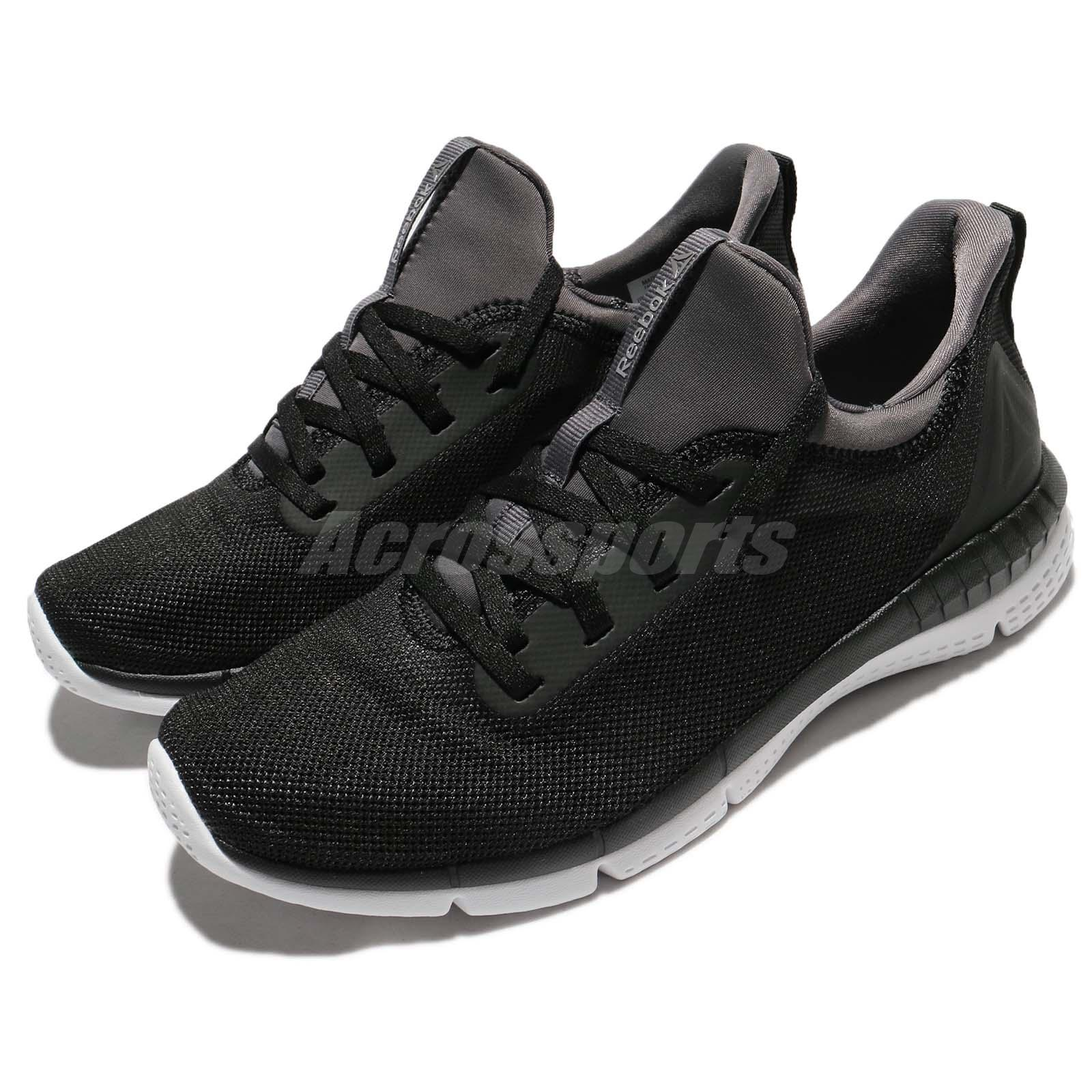 6ca58f6b8bce Details about Reebok Print Her 2.0 Black Grey White Women Running Shoes  Sneakers BS8539