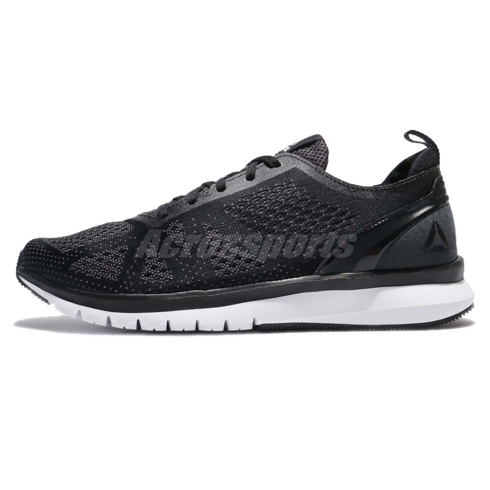 reebok mens running shoes. reebok print smooth clip ultk ultraknit black white men running shoes bs8574 mens s