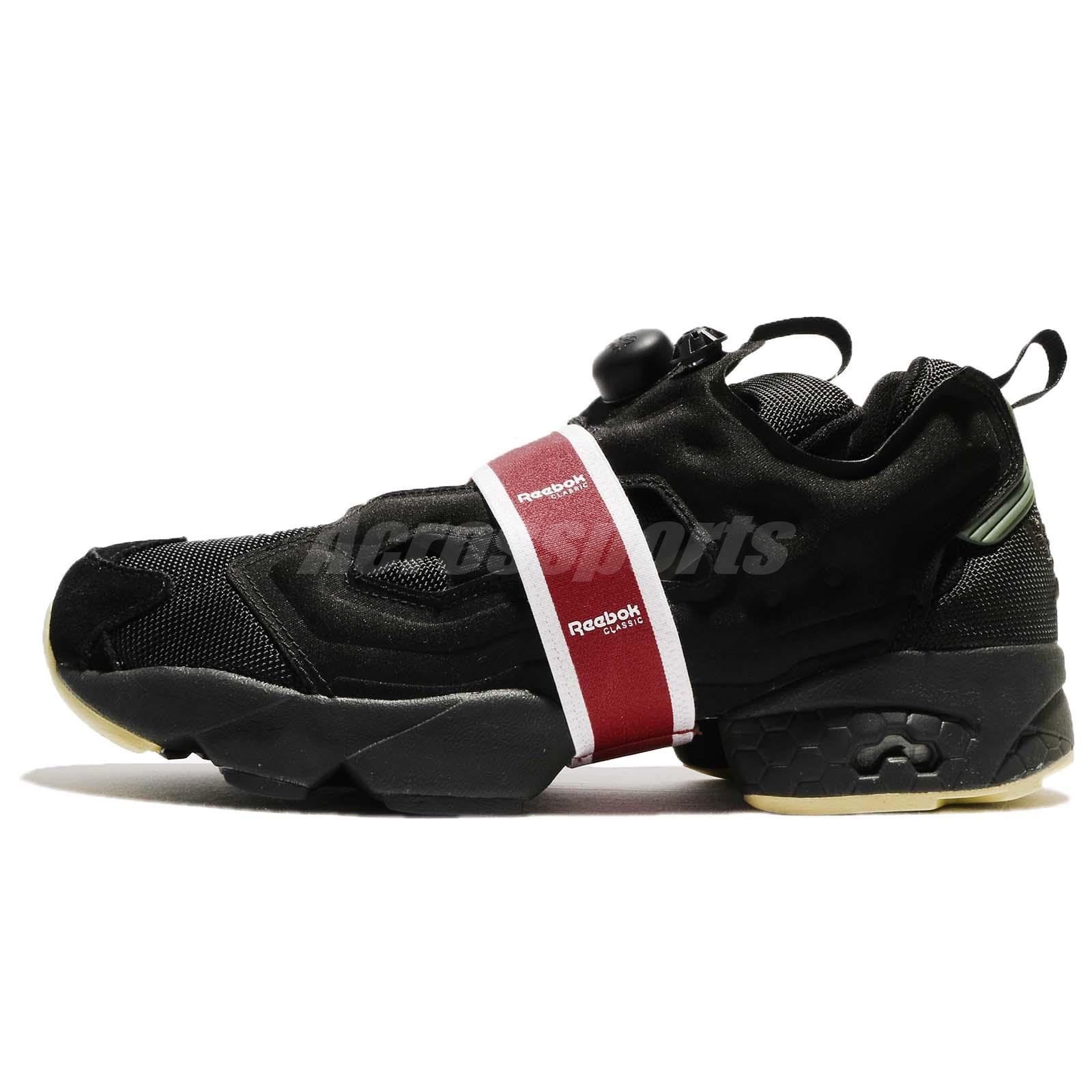 7a06e577f69 Reebok Instapump Fury OG MB Black Coal Red Men Running Shoes Sneakers BS9730