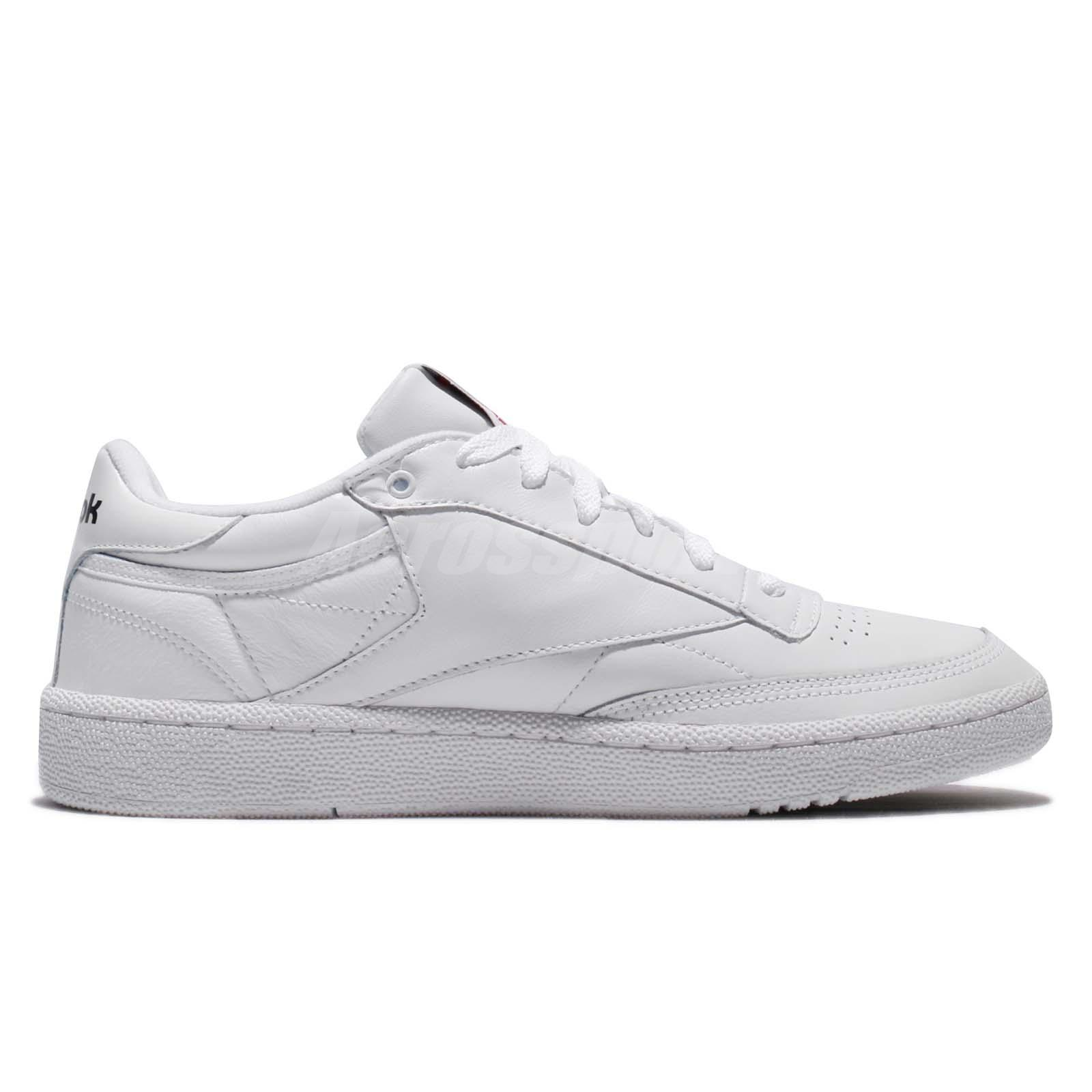 9ea8e31e3cc3b Reebok Club C 85 Pro Leather White Classic Men Shoes Sneakers Trainers  CM9430