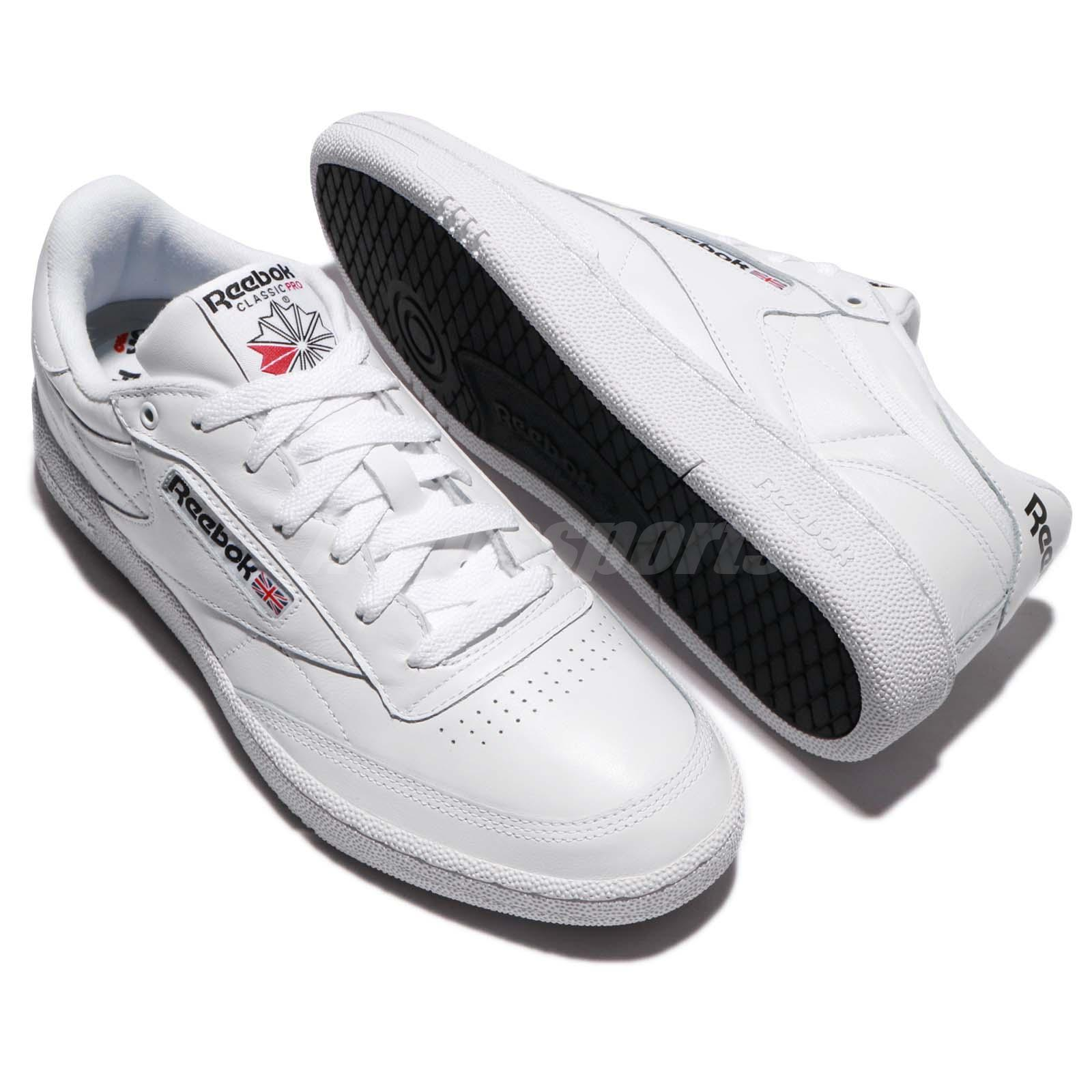 429a0fe05afd Reebok Club C 85 Pro Leather White Classic Men Shoes Sneakers ...