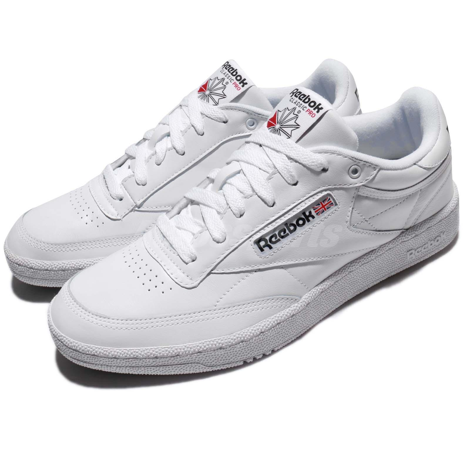 44ece850654f Details about Reebok Club C 85 Pro Leather White Classic Men Shoes Sneakers  Trainers CM9430