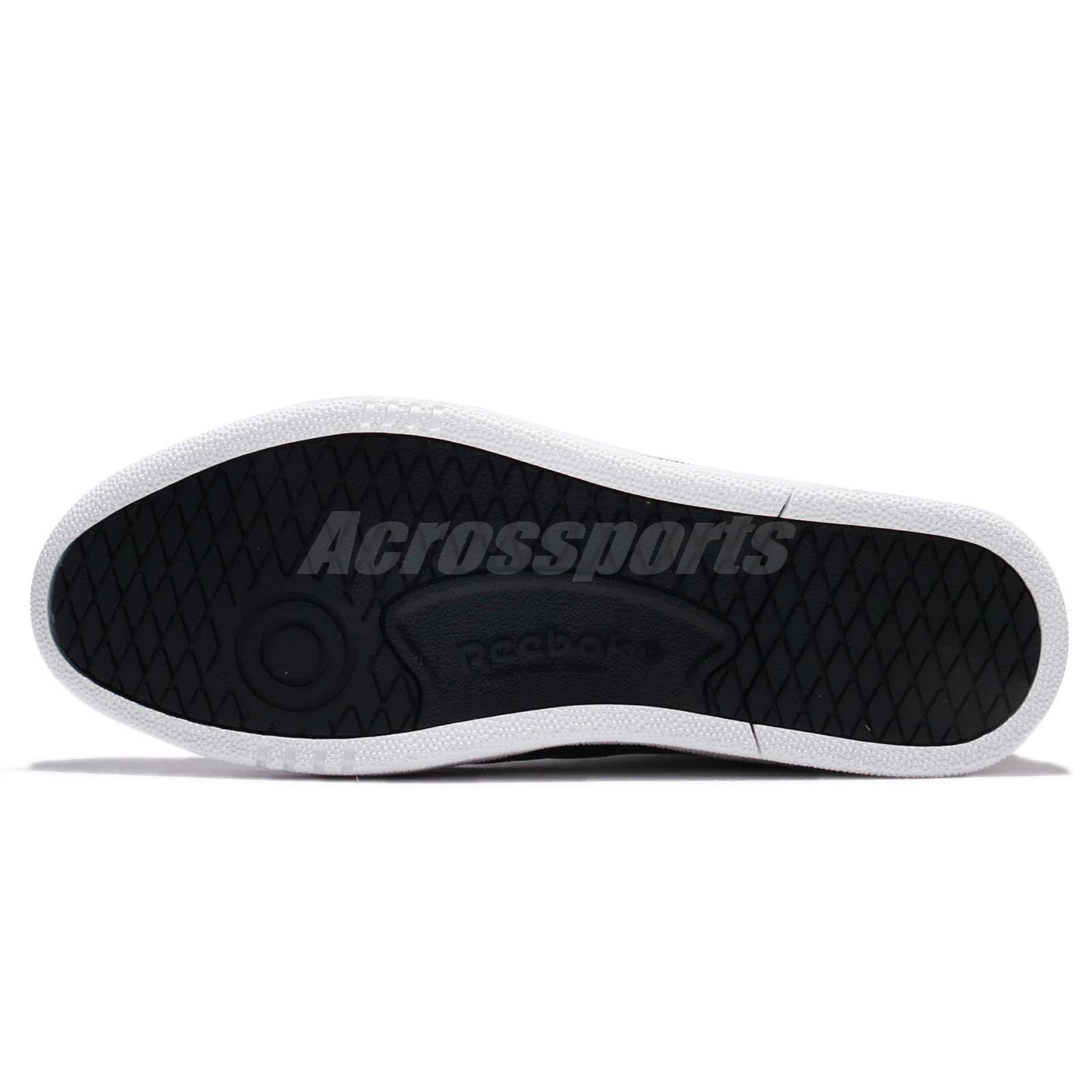 c14572d8e0fa Reebok Club C 85 Pro Black White Men Classic Shoes Sneakers Trainers ...