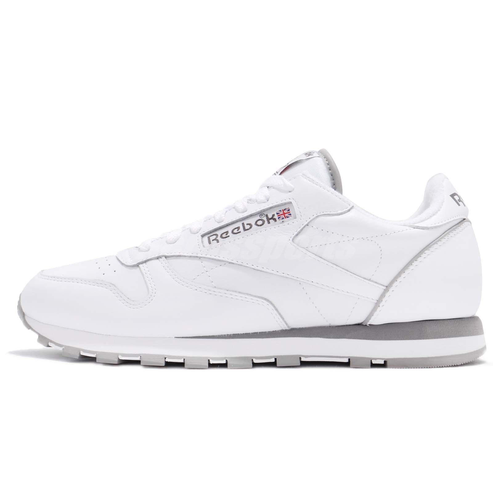 4c9470280f2 Reebok Classic CL Leather Archive White Carbon Grey Men Shoes Sneakers  CM9670