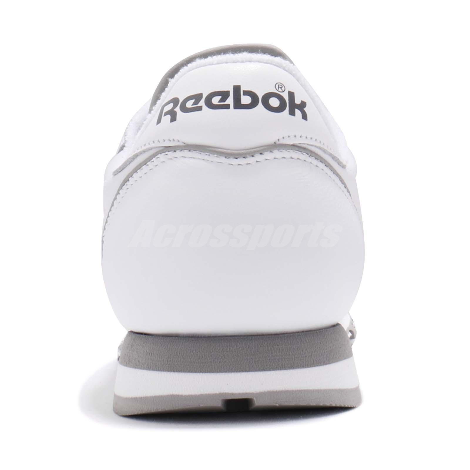 a987bb2b980 Reebok Classic CL Leather Archive White Carbon Grey Men Shoes ...
