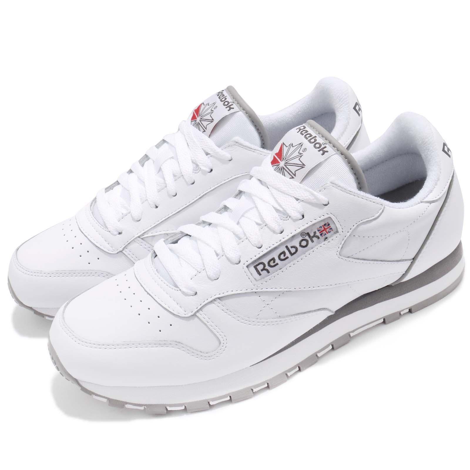 3af8e0042136 Details about Reebok Classic CL Leather Archive White Carbon Grey Men Shoes  Sneakers CM9670