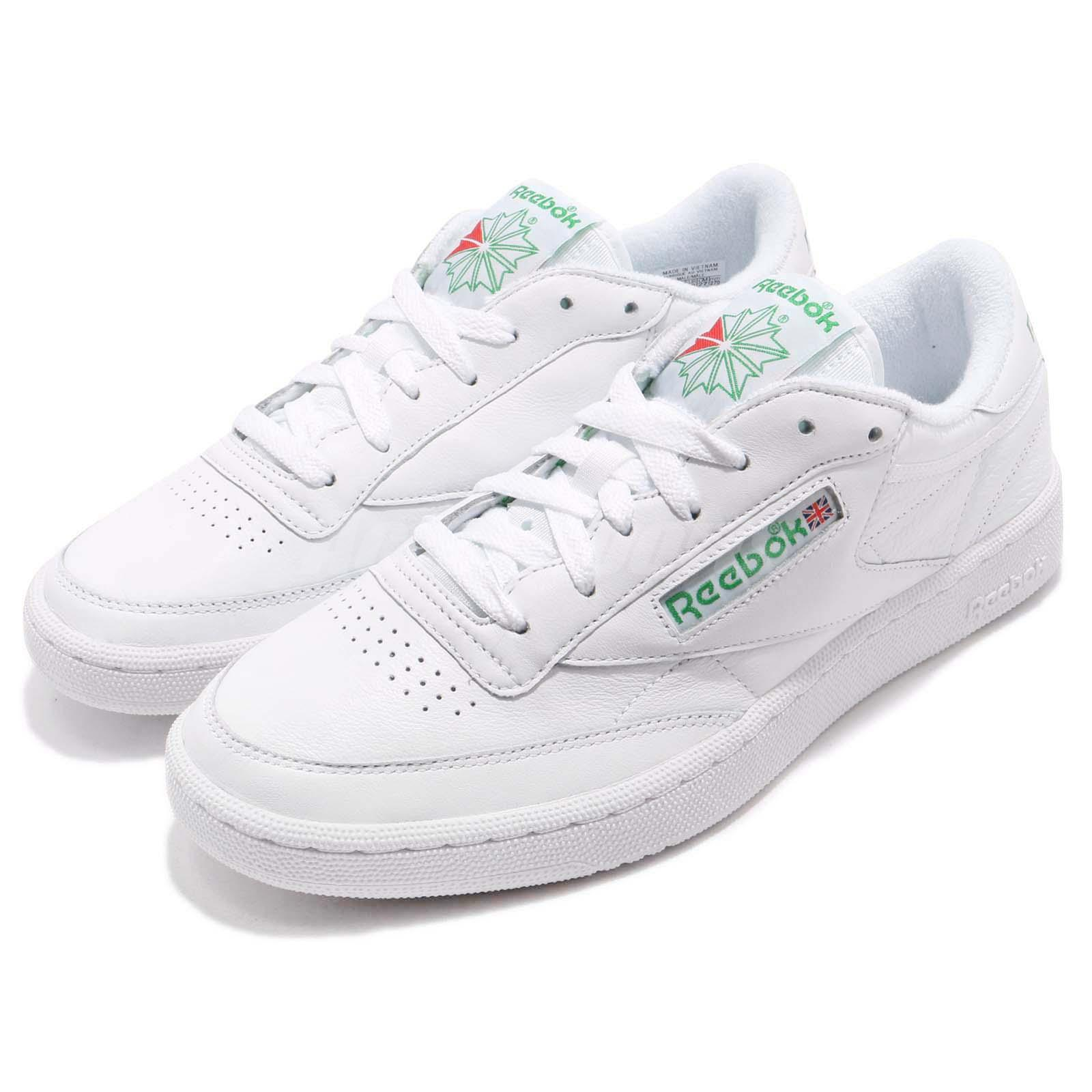 Details about Reebok Classic Club C 85 Archive White Glen Green Men Shoes  Sneakers CN0645 2f2dda133409