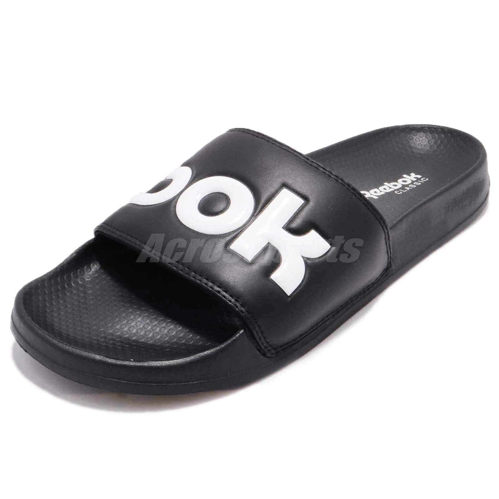 3f486e1ee Reebok Classic Slide Black White Men Women Sports Sandal Slippers CN0735