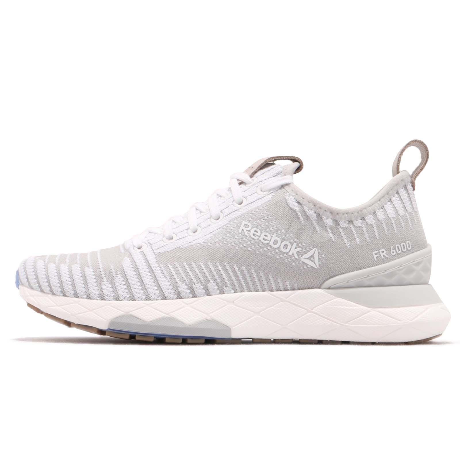 8782b6a0e5f Details about Reebok Floatride 6000 Ultraknit White Grey Stucco Women  Running Shoes CN1763