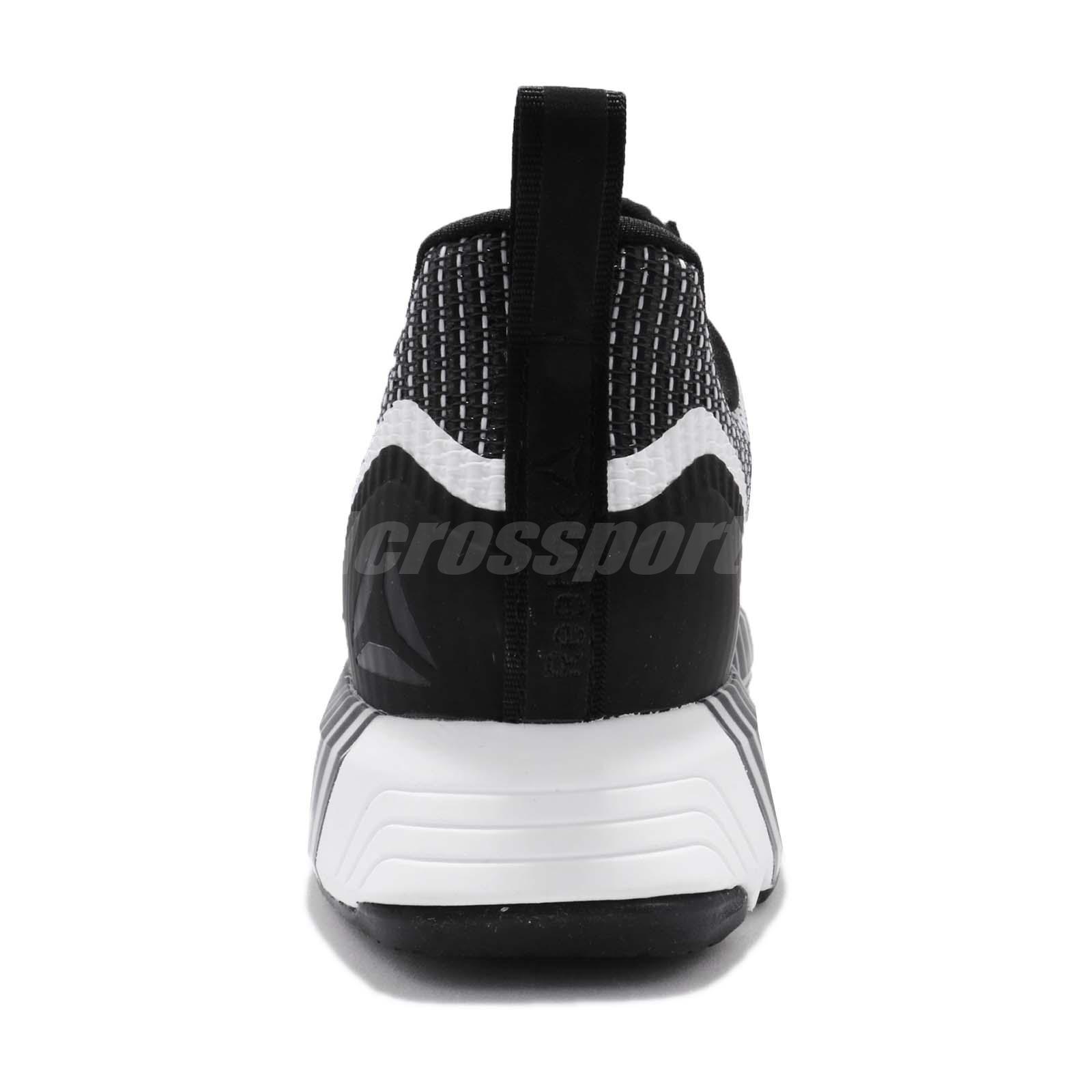 ea0659598d1 Reebok Fusion Flexweave Floatride Black White Men Running Shoes ...
