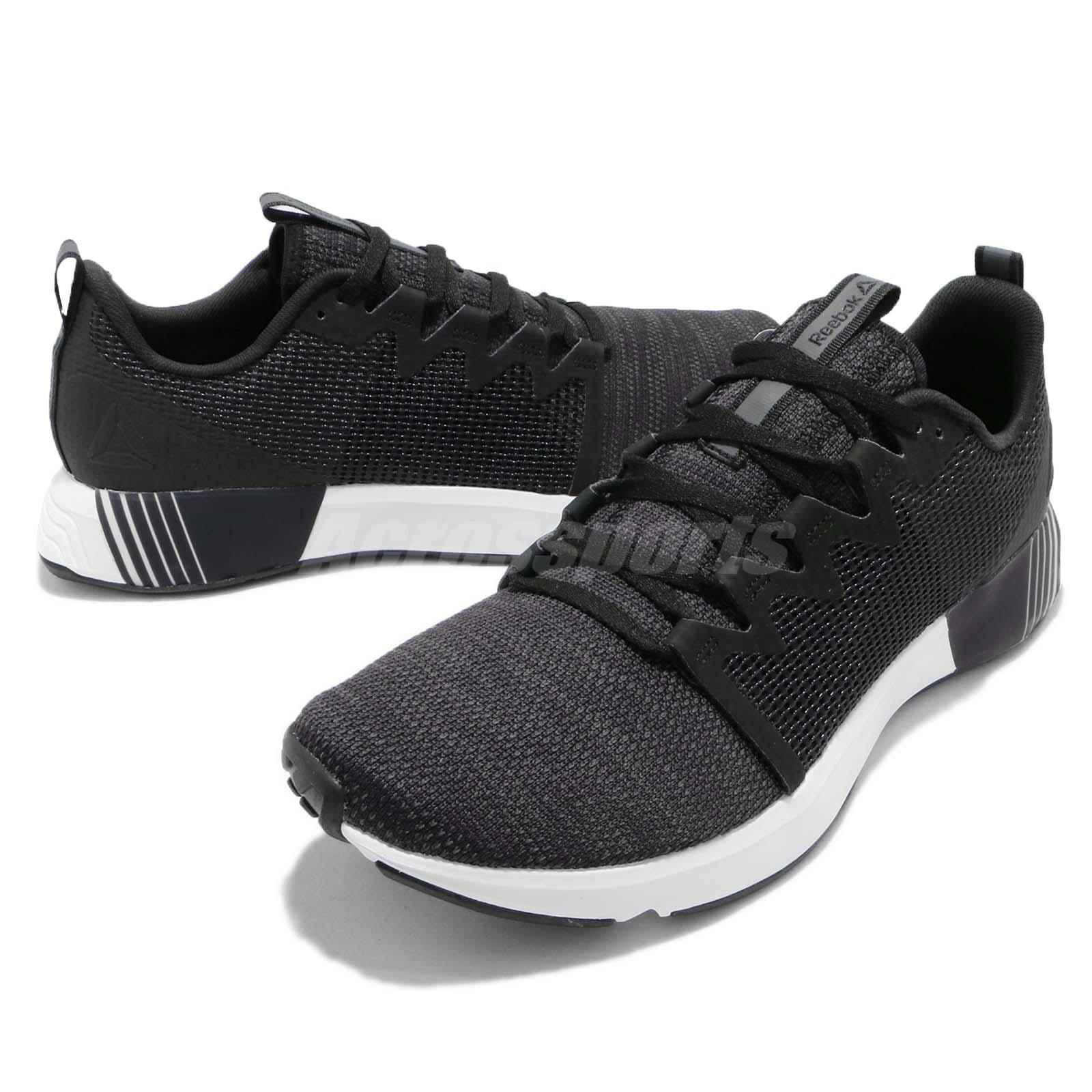 e8c587403302 Reebok Fusium Run Black Grey White Men Running Training Shoes ...