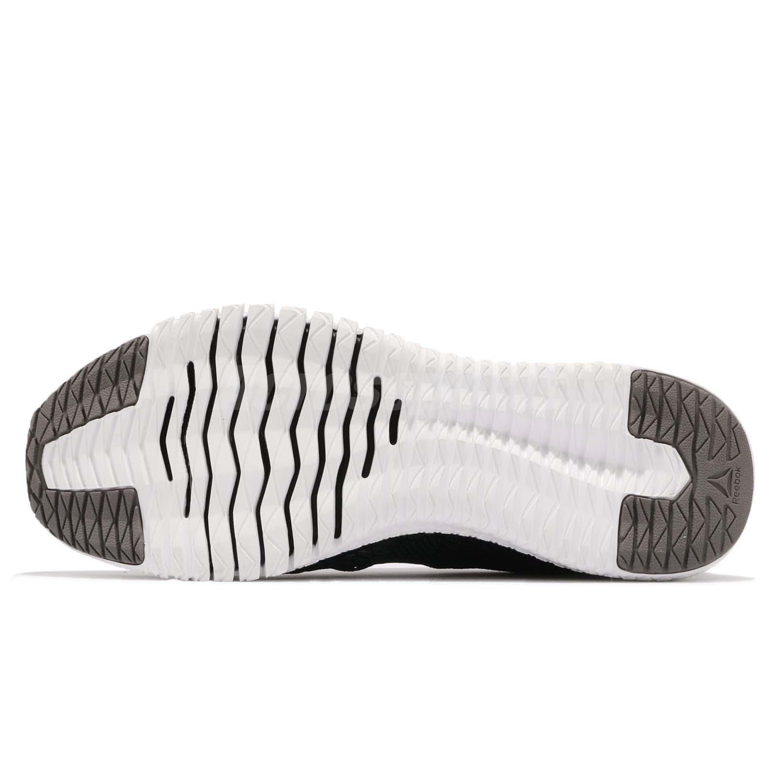 7e5aeb3a4837b4 Reebok Flexagon Black White Grey Men Cross Training Gym Shoes ...