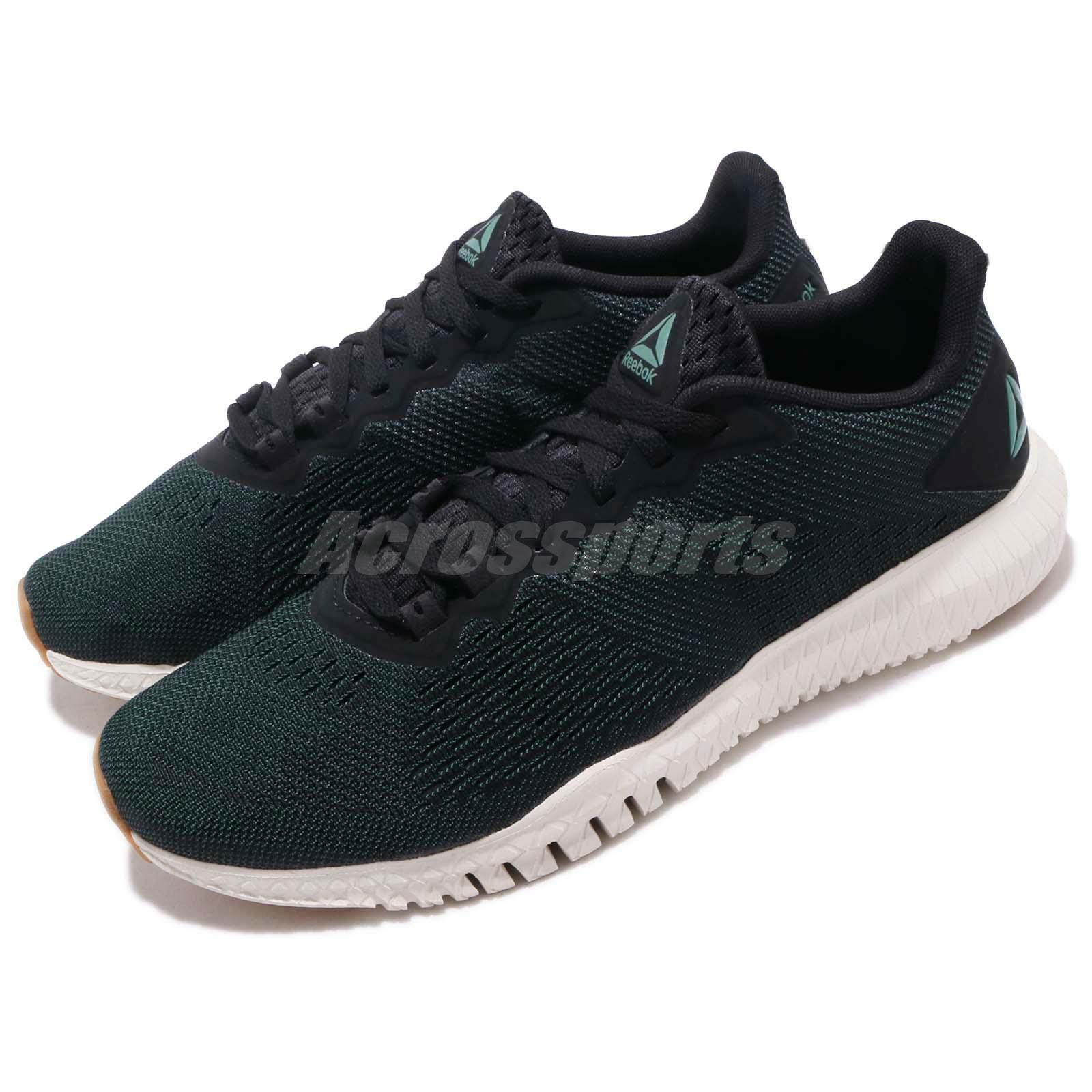7124f6eabf76 Reebok Flexagon Green Black Chalk Men Cross Training Shoes Sneakers ...