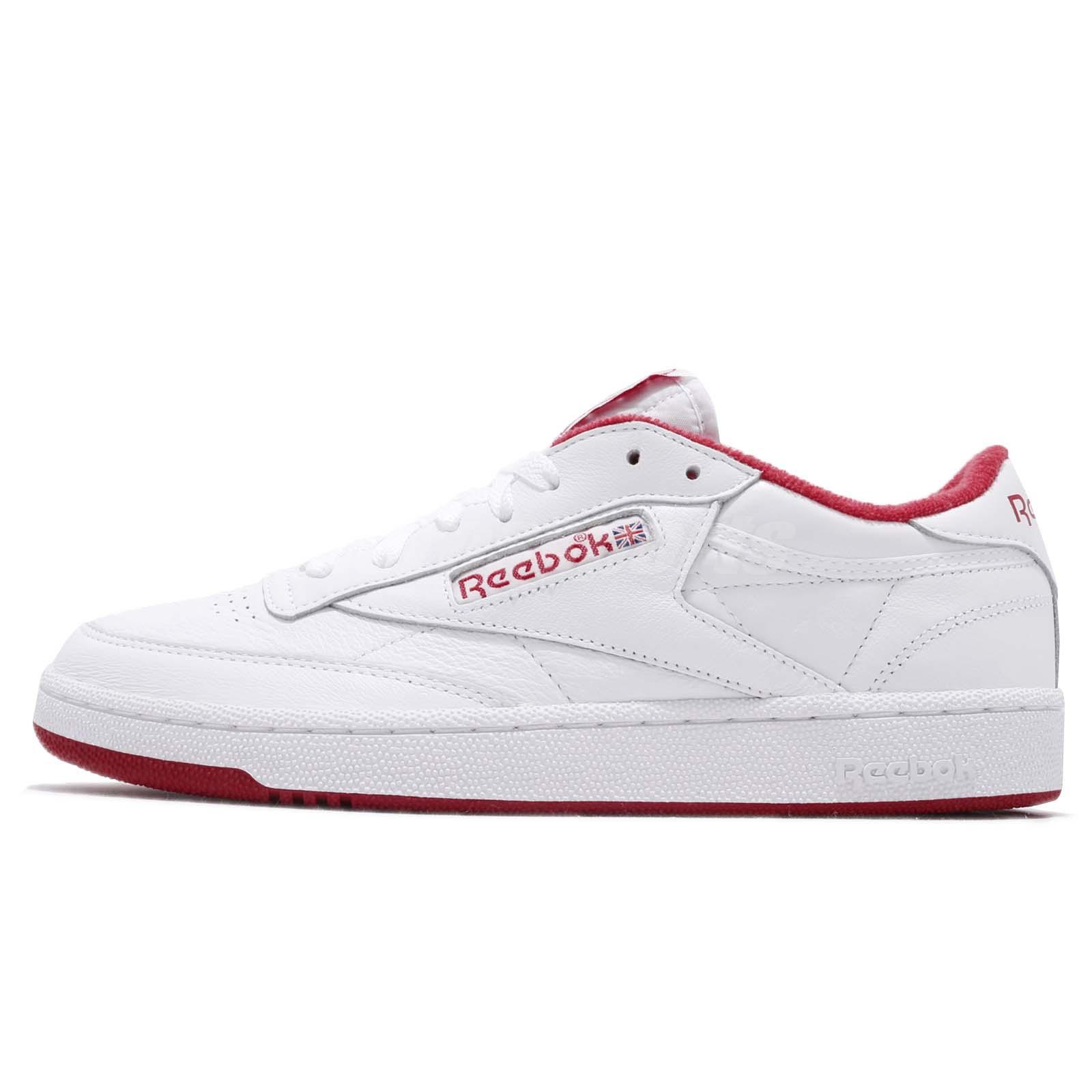 042717d1d7da Reebok Club C 85 MU Archive White Red Men Casual Classic Shoes Sneakers  CN3711