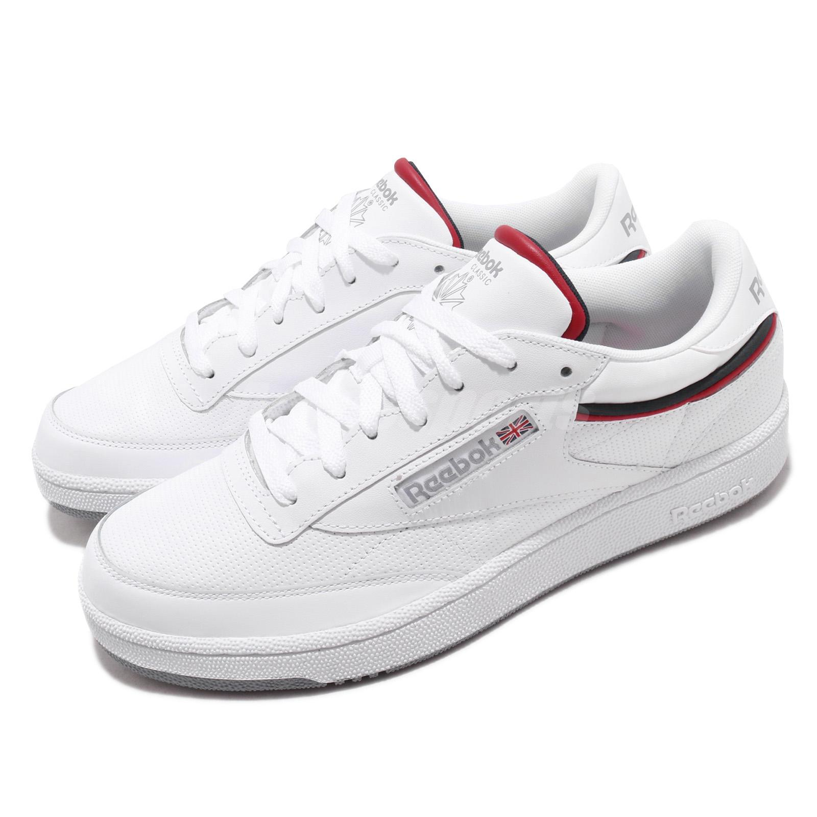 d4407fbf Details about Reebok Club C 85 MU White Navy Red Men Classic Casual Shoes  Sneakers CN3761