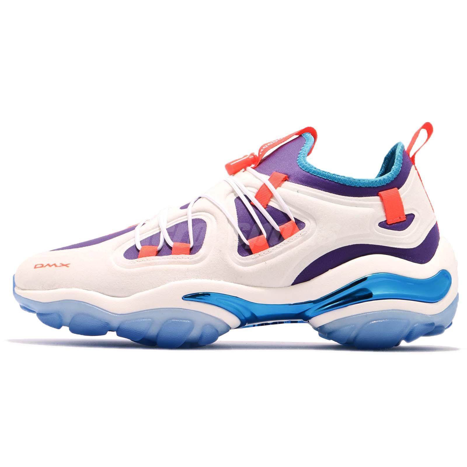 9a2e2cf36cce Reebok DMX Series 2000 Low Chalk White Orange Purple Blue Men Shoes CN3813