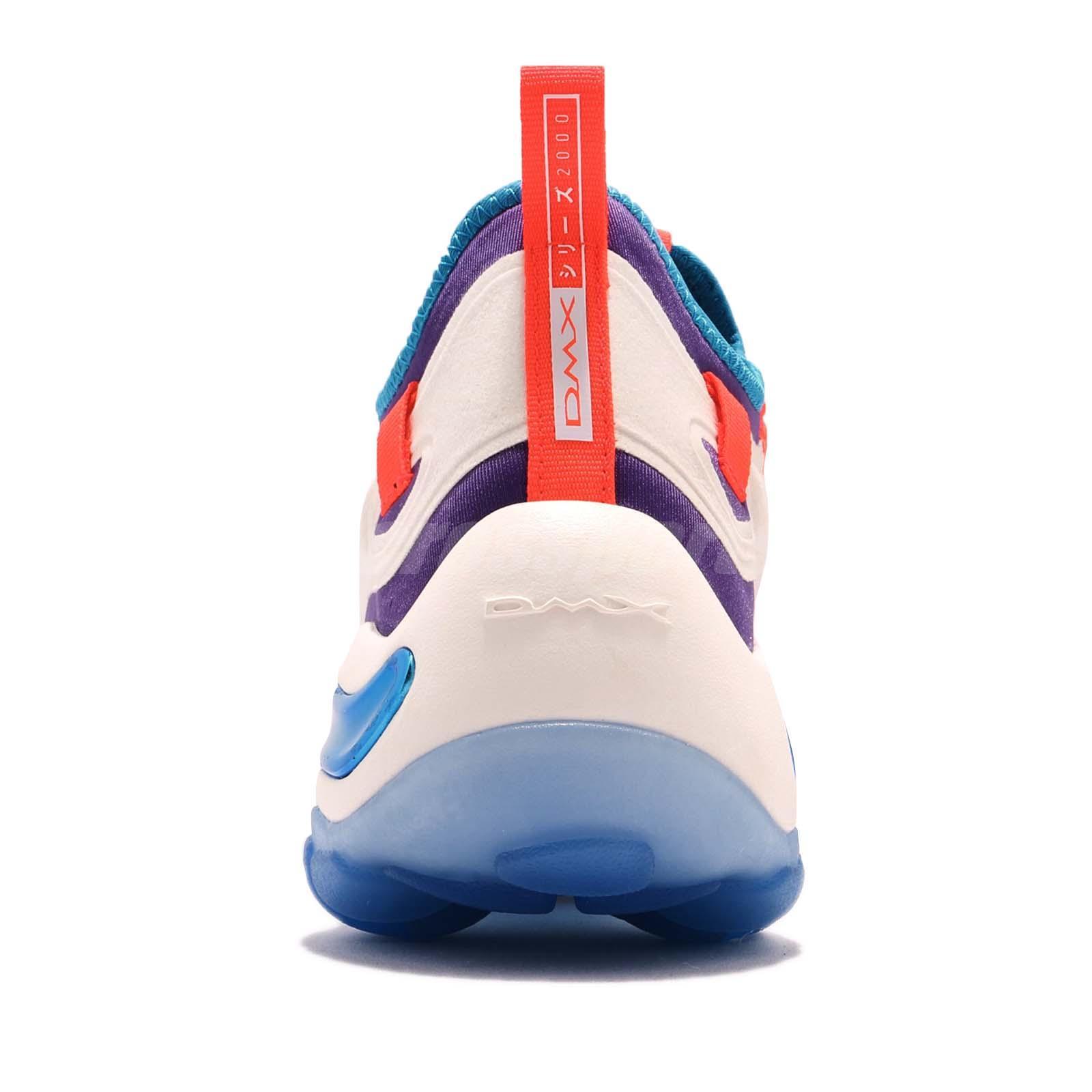 74cef87e74d Reebok DMX Series 2000 Low Chalk White Orange Purple Blue Men Shoes ...