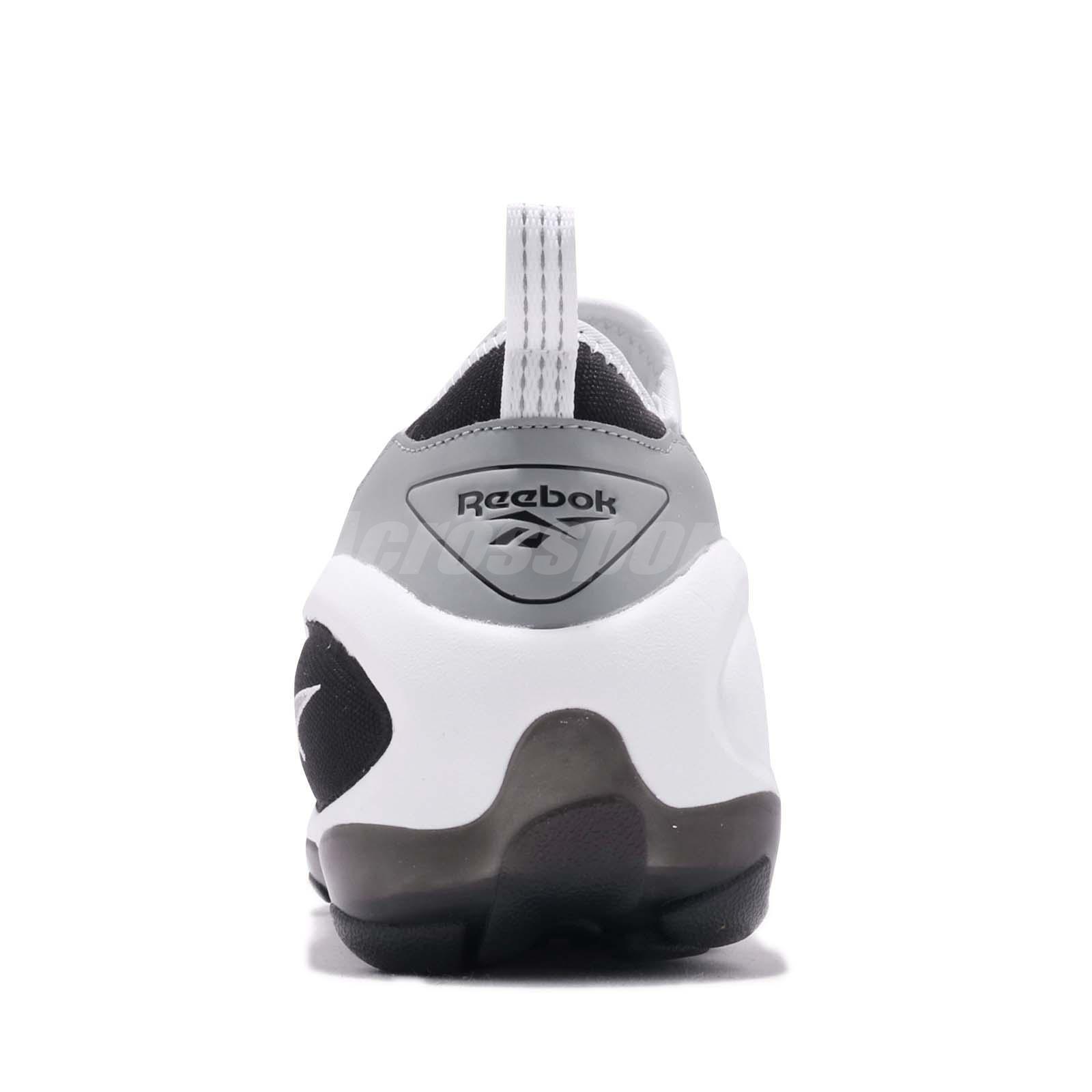 e80d70ef9991f1 Reebok DMX Run 10 Slip On Black White Grey Zipper Men Running Shoes ...