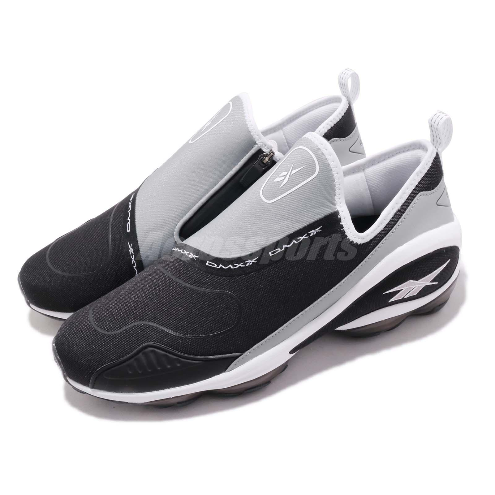 ba47235351 Details about Reebok DMX Run 10 Slip On Black White Grey Zipper Men Running  Shoes CN4036