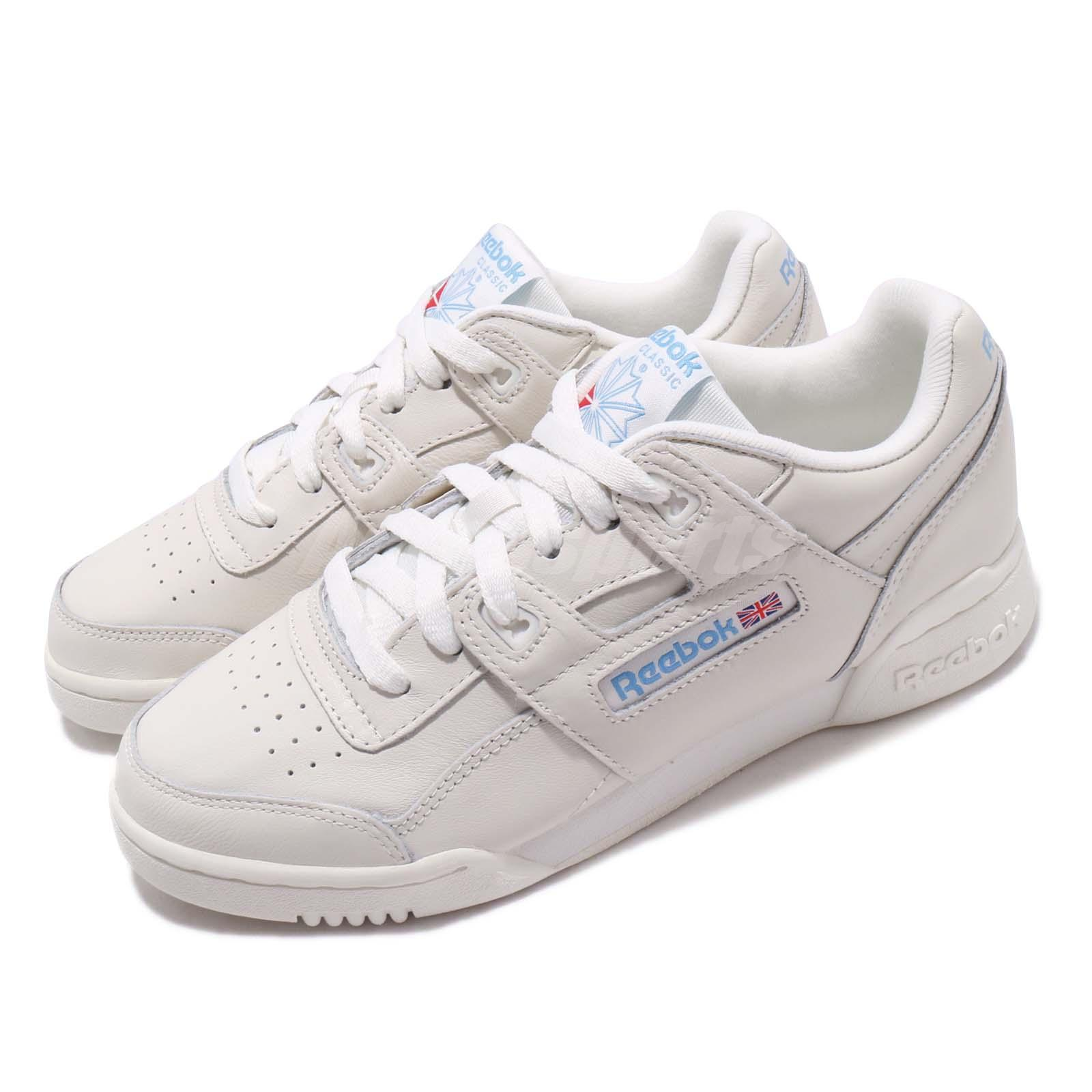 8ff4192ca3d57 Details about Reebok Workout LO Plus Chalk Athletic Blue Women Casual Shoes  Sneakers CN4111
