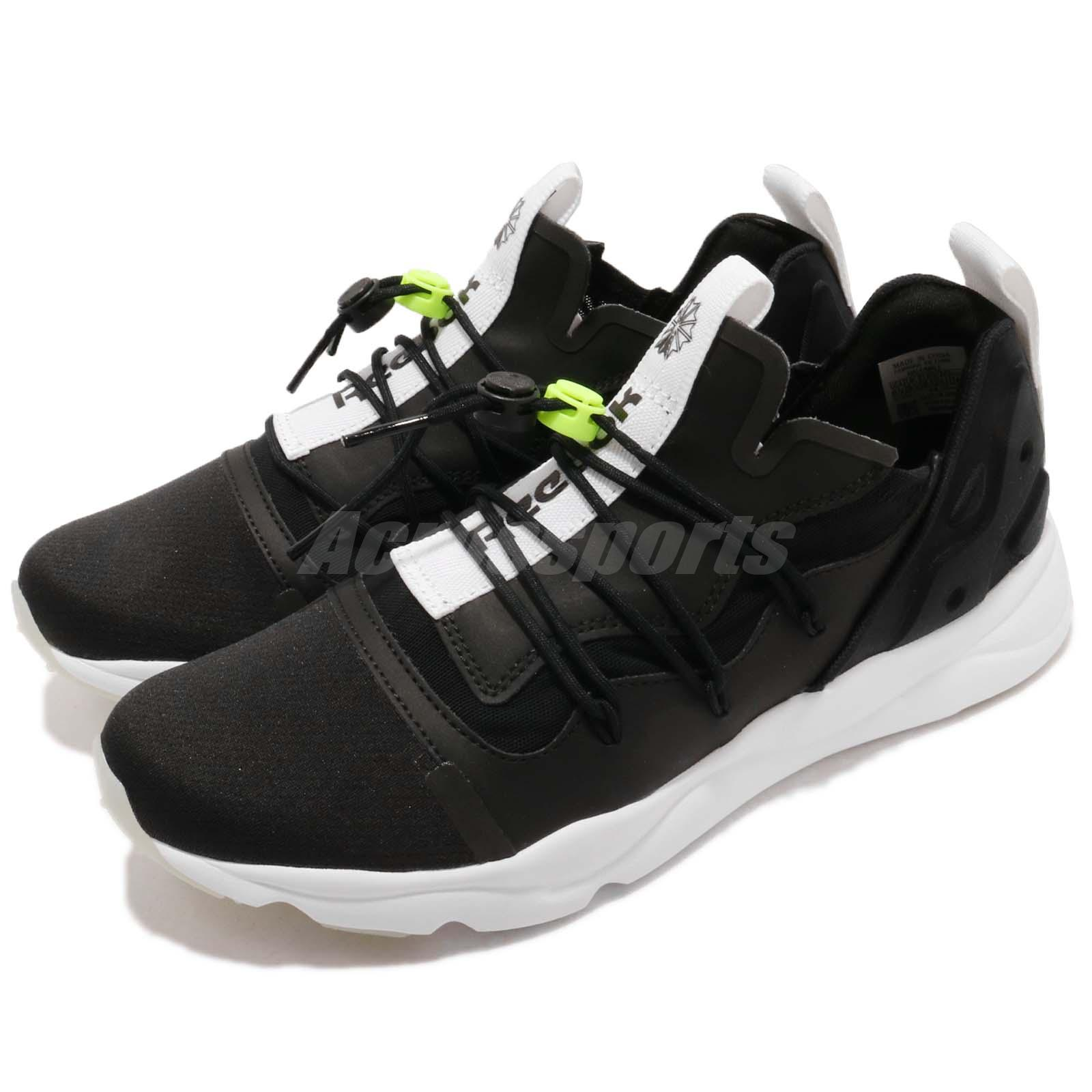 81ccdcd52a6 Details about Reebok Furylite X Black White Men Running Shoes Sneakers  Trainers CN4452