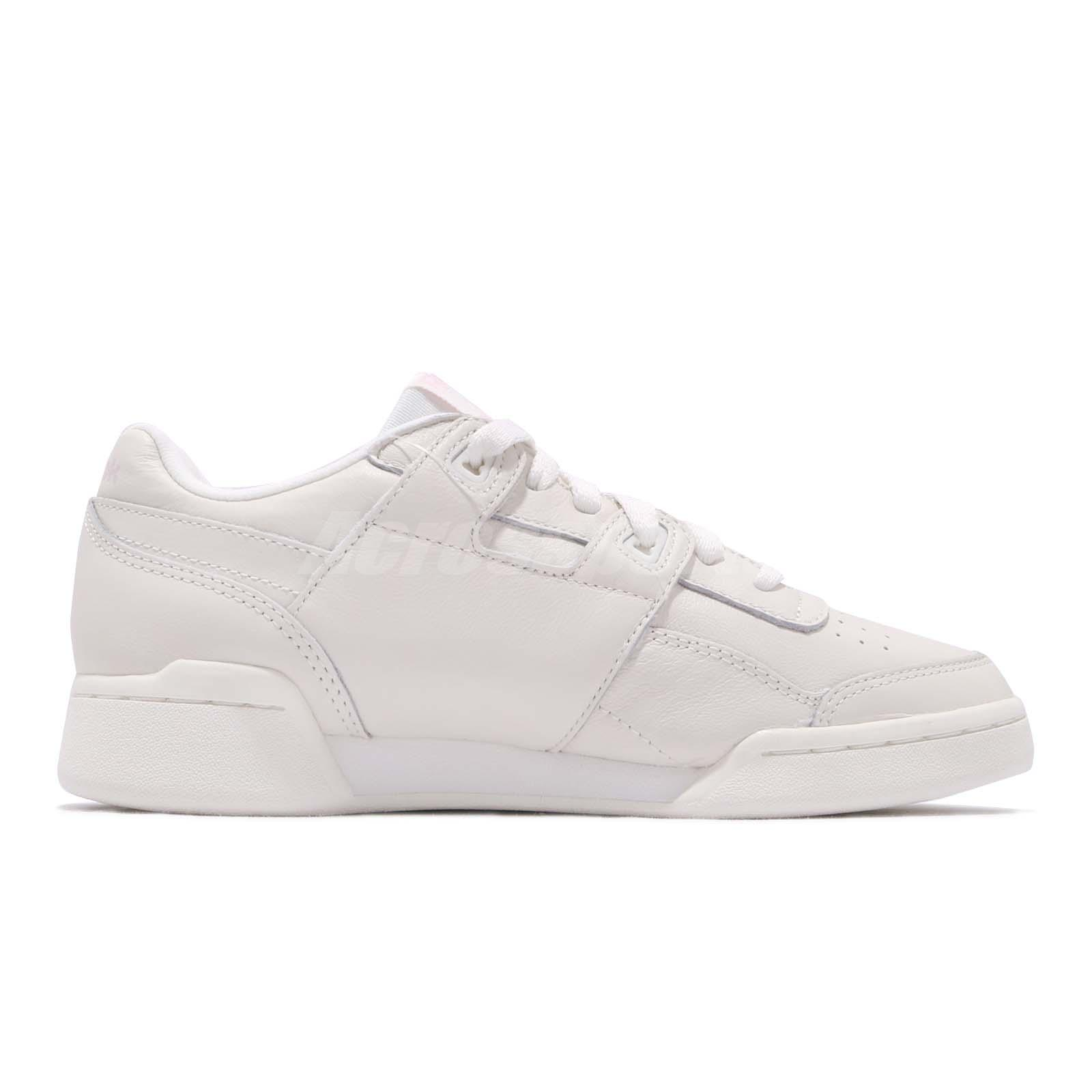 d8f1f92fdd50 Reebok Workout LO Plus White Practical Pink Women Casual Shoes ...