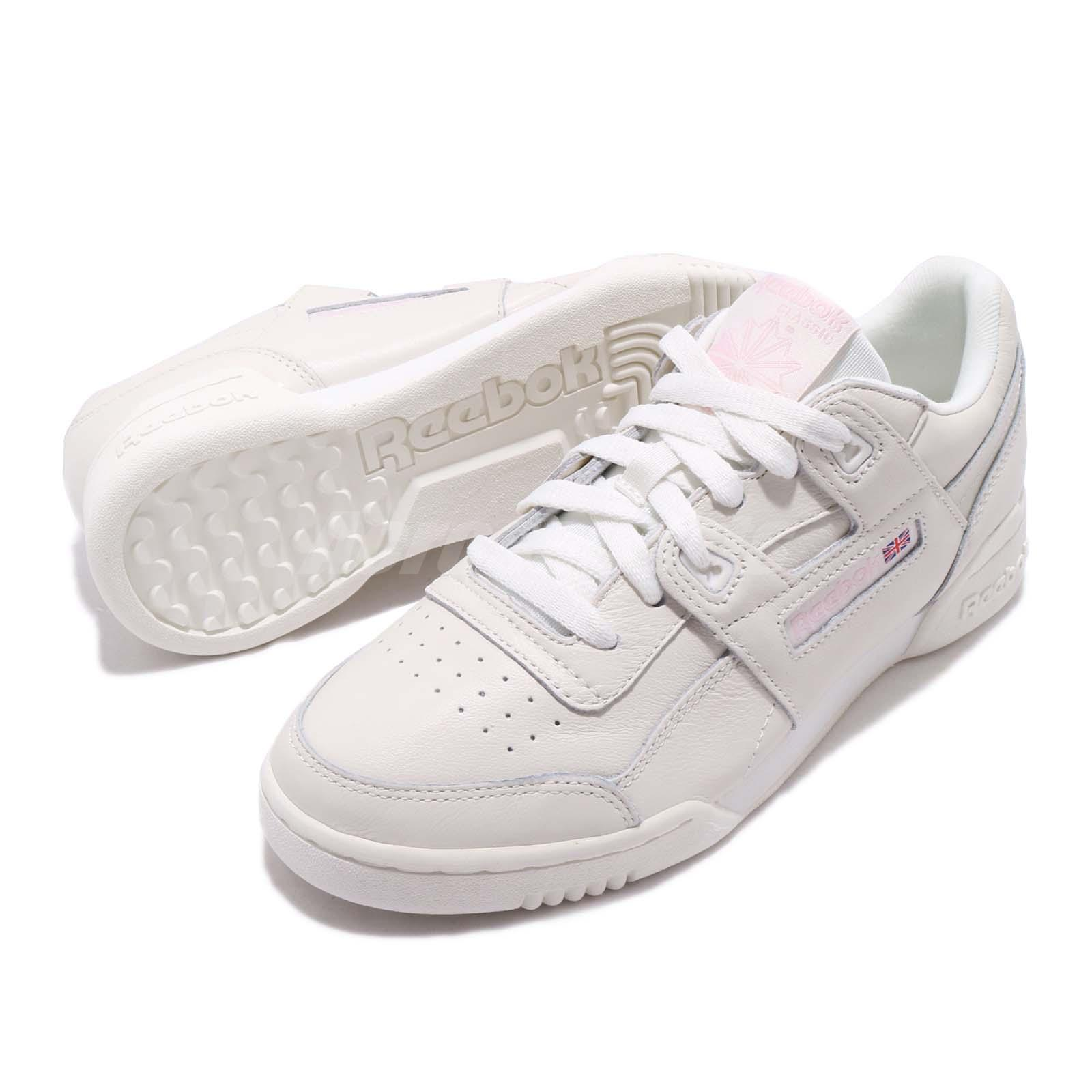 330415f13a49a Reebok Workout LO Plus White Practical Pink Women Casual Shoes ...