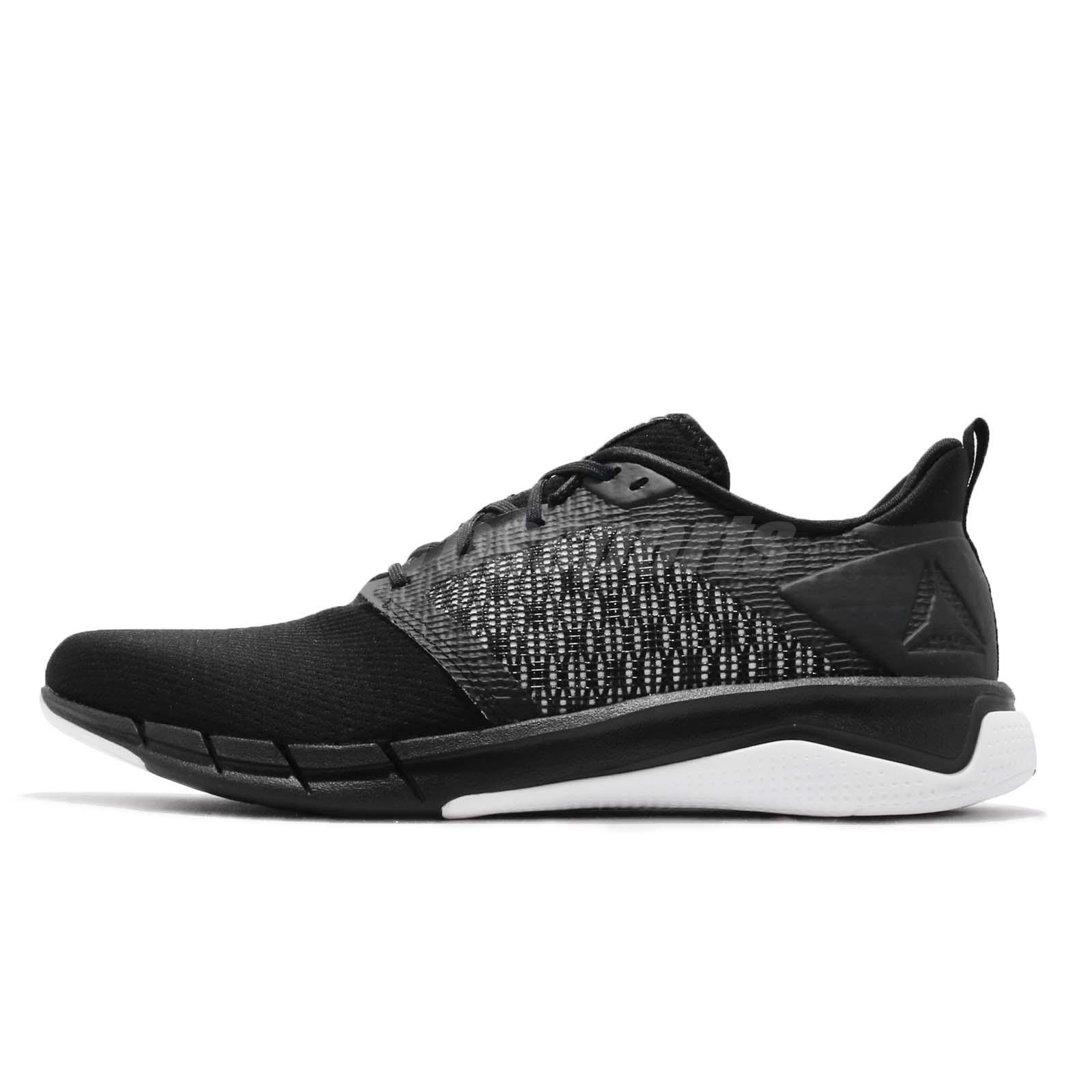 342af9e52e6e8e Reebok Print Run 3.0 Black White Men Running Training Shoes Sneakers CN4656