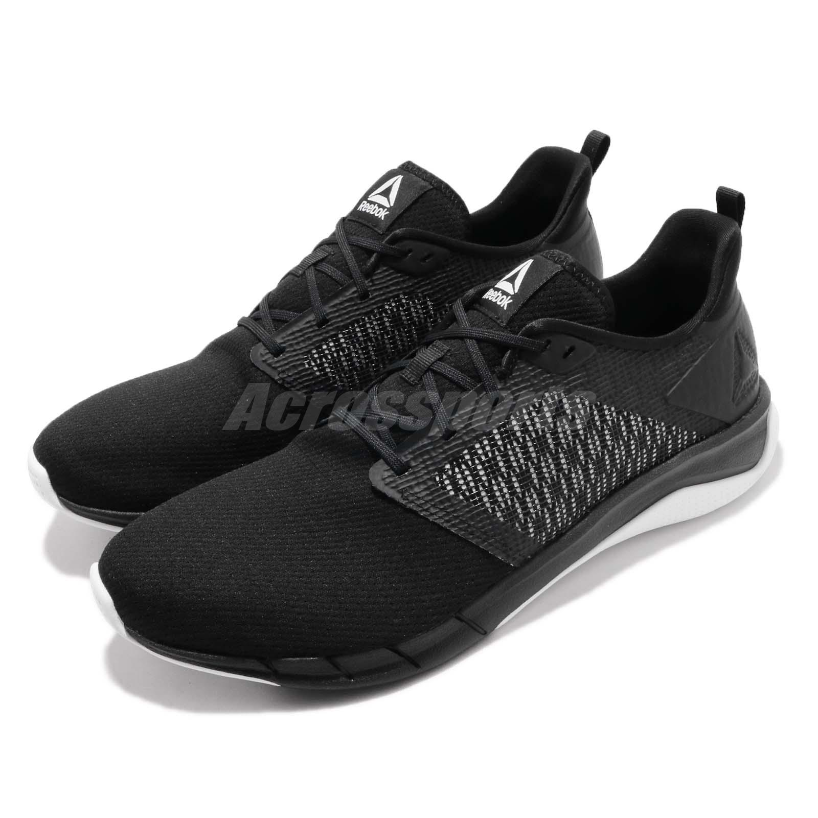 019fefc8f7 Details about Reebok Print Run 3.0 Black White Men Running Training Shoes  Sneakers CN4656