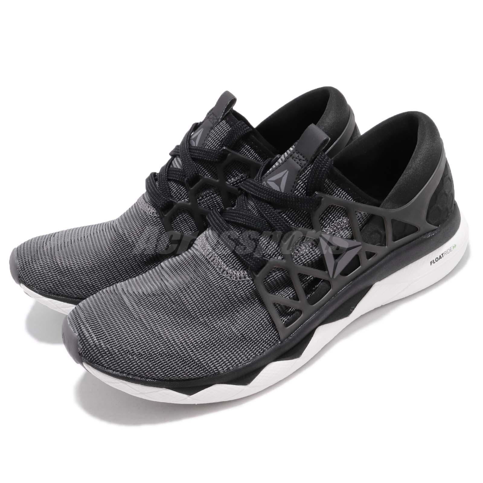 meet f8942 5db4a Details about Reebok Floatride Run Flexweave Black White Grey Men Running  Shoes Sneaker CN5227