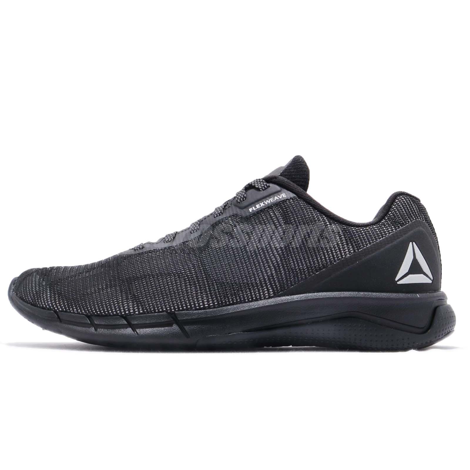 33544c57ffd Reebok Fast Flexweave NT Black Stark Grey Men Running Shoes Sneakers CN5624