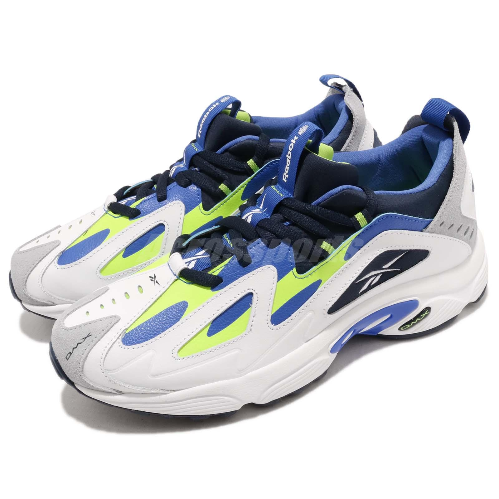 5468cf5c Reebok DMX Series 1200 White Lime Blue Men Running Daddy Shoes ...