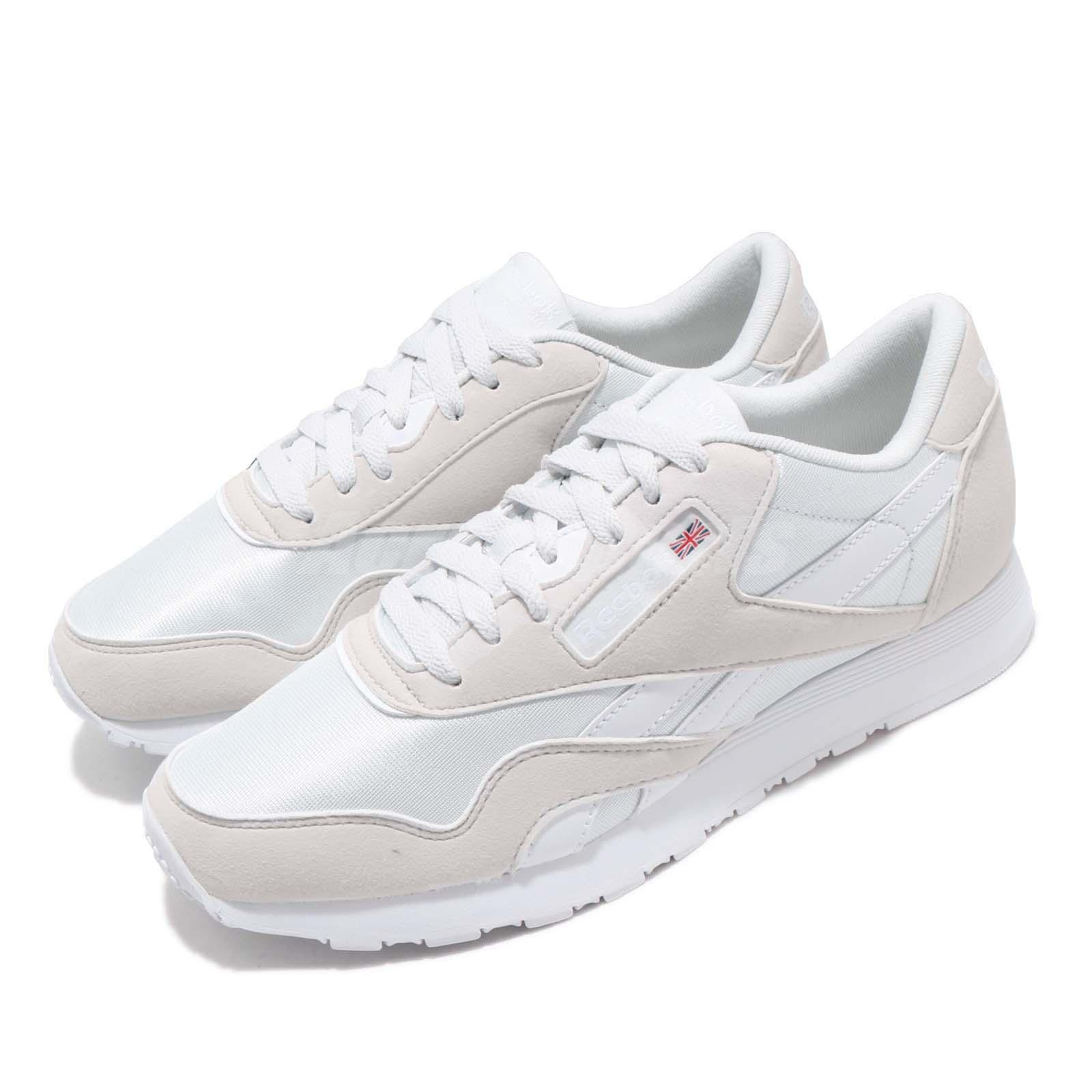Details about Reebok CL Nylon Color Grey White Mens Womens Classic Running Shoes CN7448