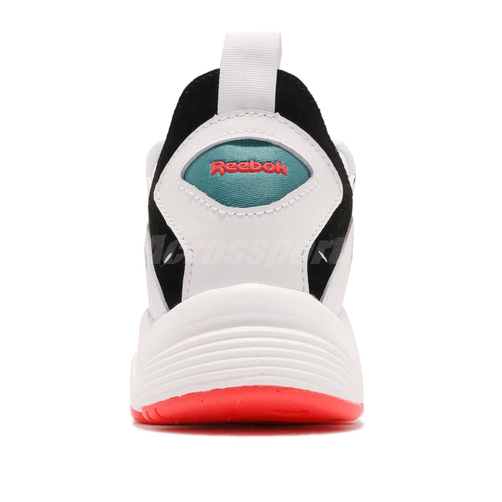 f1cf28286378f5 Reebok DMX Series 1200 White Black Neon Red Men Running Daddy Shoes ...