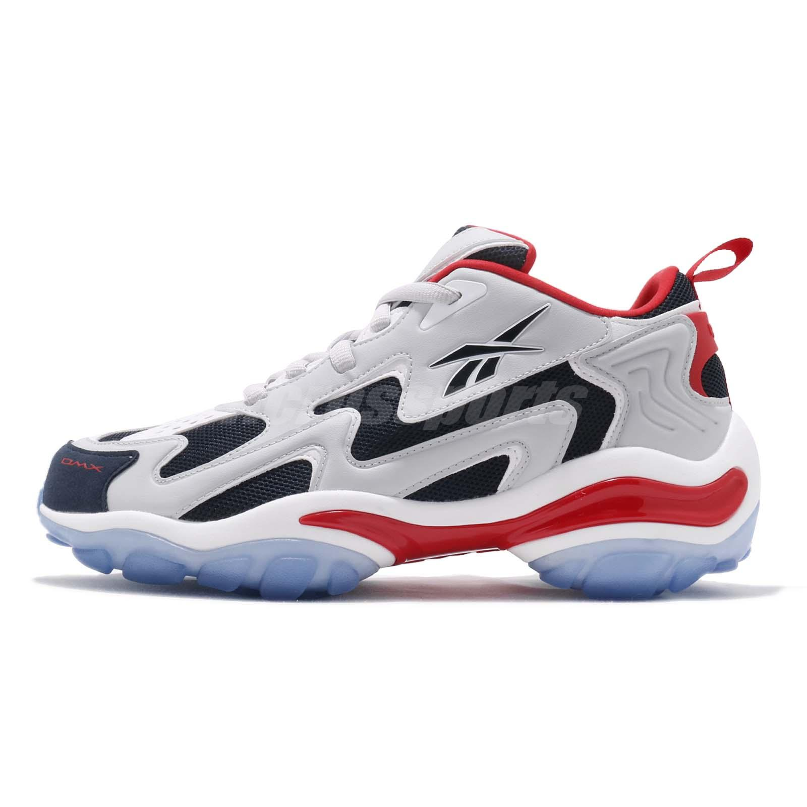 Reebok DMX Series 1600 Skull Grey Navy Red White Men Running Shoe Sneaker  CN7736 b03d71679