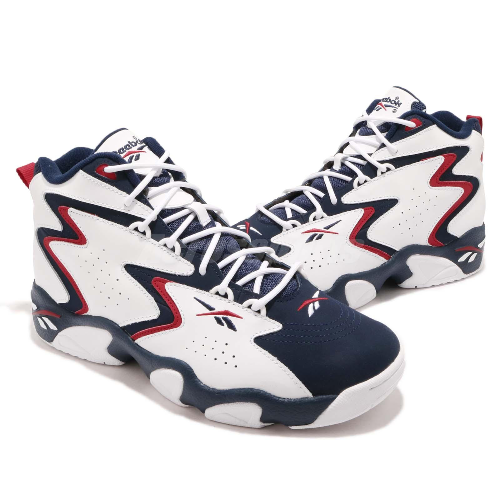 b80fe14aa8 Dettagli su Reebok Mobius OG MU White Navy Red Men Basketball Casual Shoes  Sneakers CN7885