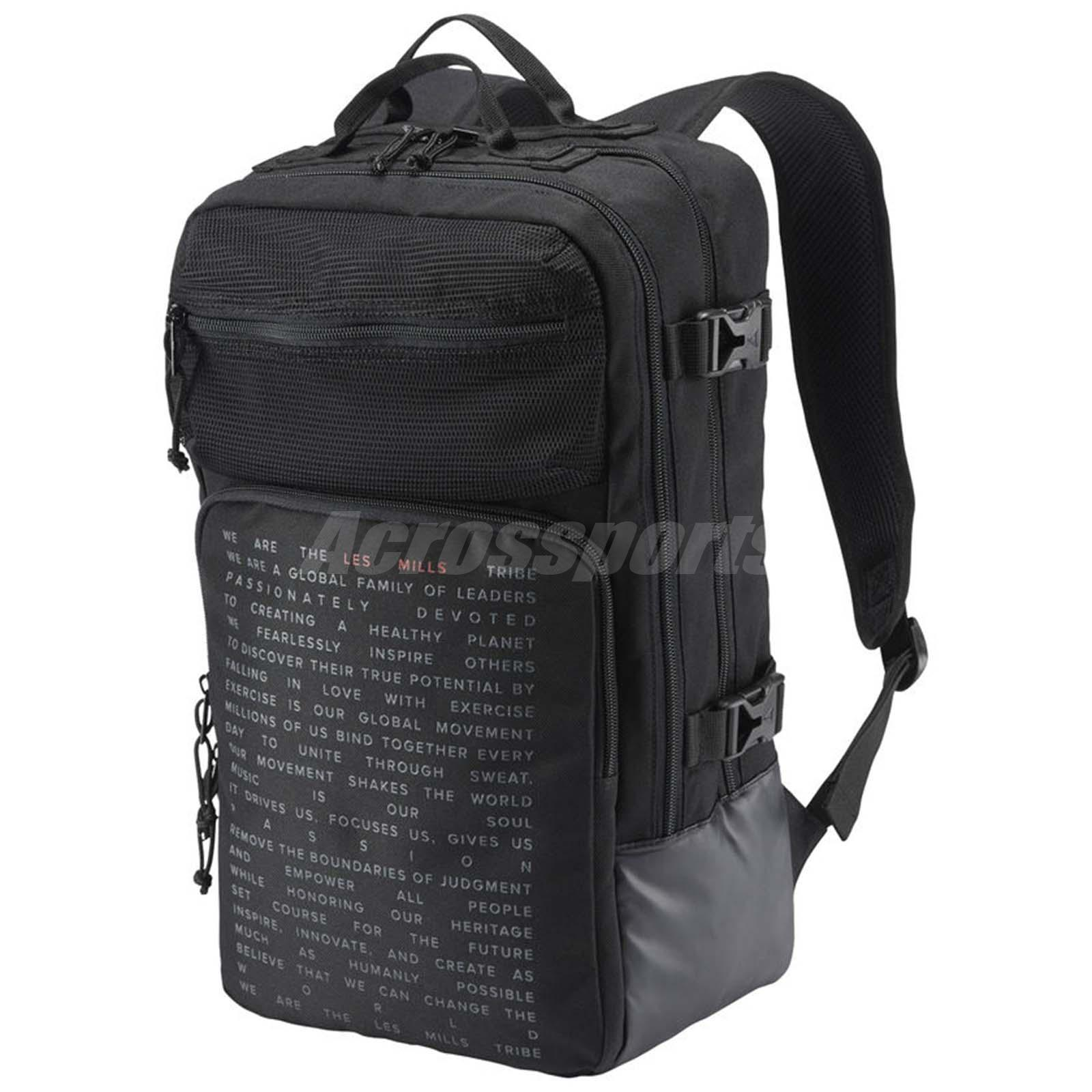 0dfd436f06 Details about Reebok Les Mills Backpack Training Workout Fitness Gym Bag  Sports Black DN5789