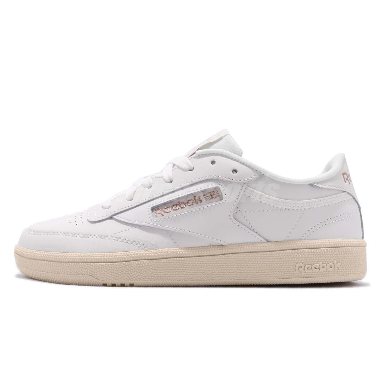 e4594186173 Reebok Club C 85 Chalk Rose Gold Paper White Women Classic Casual Shoes  DV3727