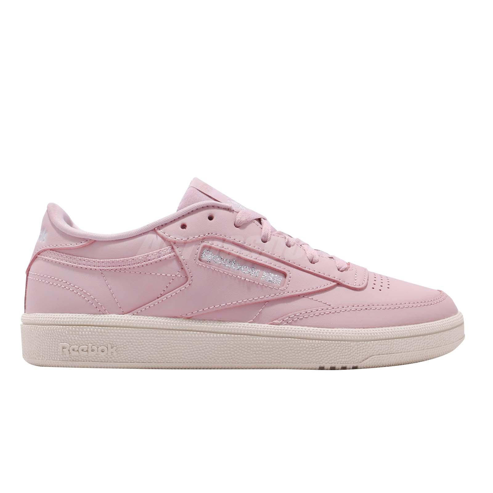 65fa64a86100 Reebok Club C 85 Ashen Lilac Silver Women Classic Casual Shoes ...