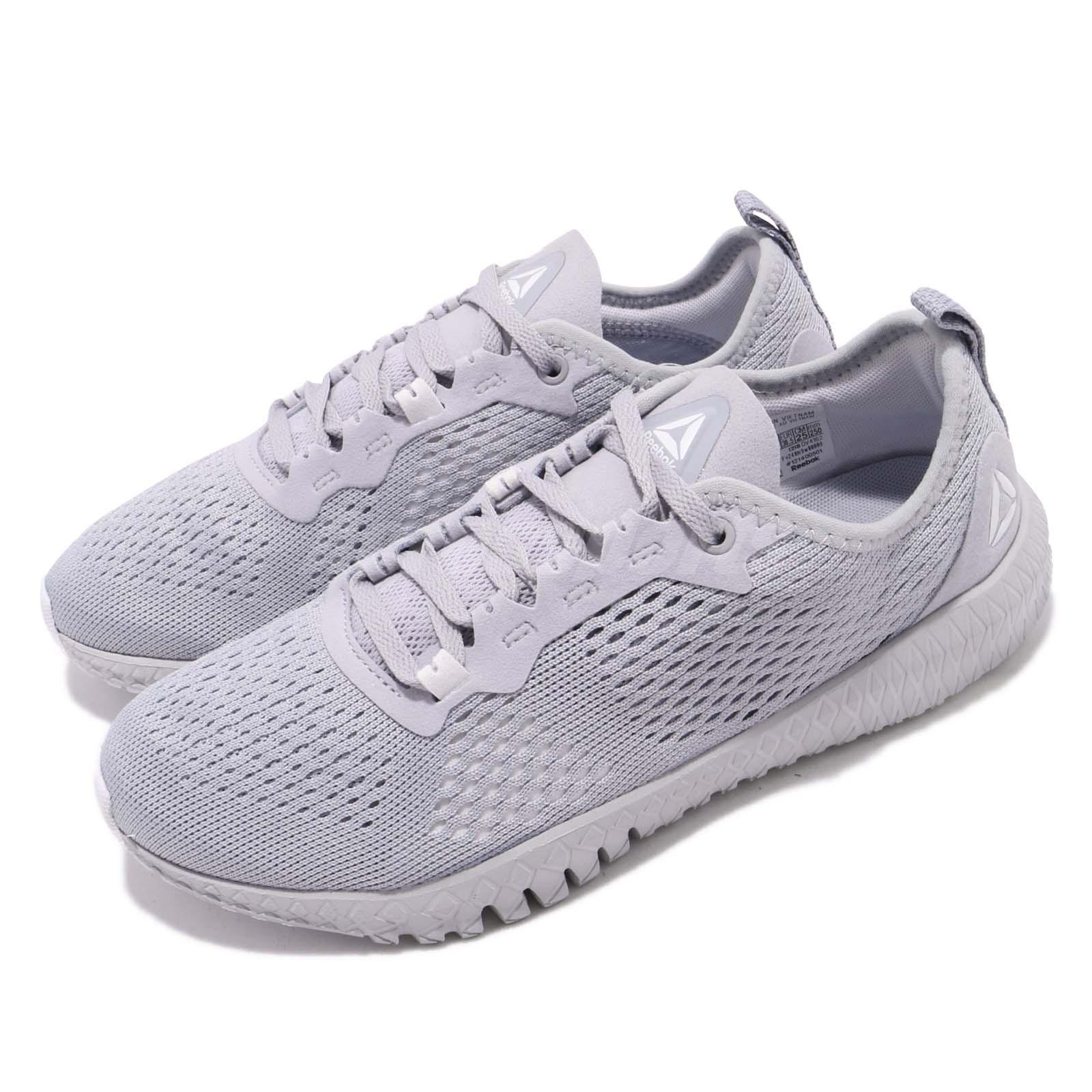 42cd923d1a4 Details about Reebok Flexagon Grey White Women Workout Cross Training Shoes  Sneakers DV4162