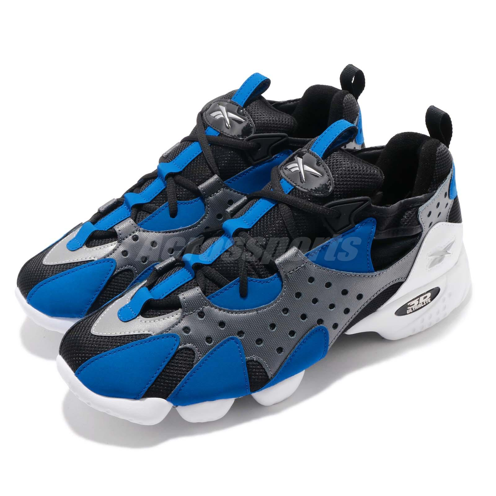 Reebok 3d Op 98 Retro Black Grey Blue White Men Running Shoes