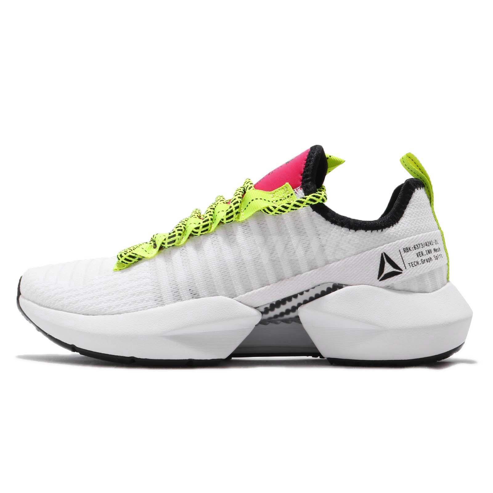 3a1161e31b3c Reebok Sole Fury White Black Lime Red Women Running Fashion Shoes Sneaker  DV4490