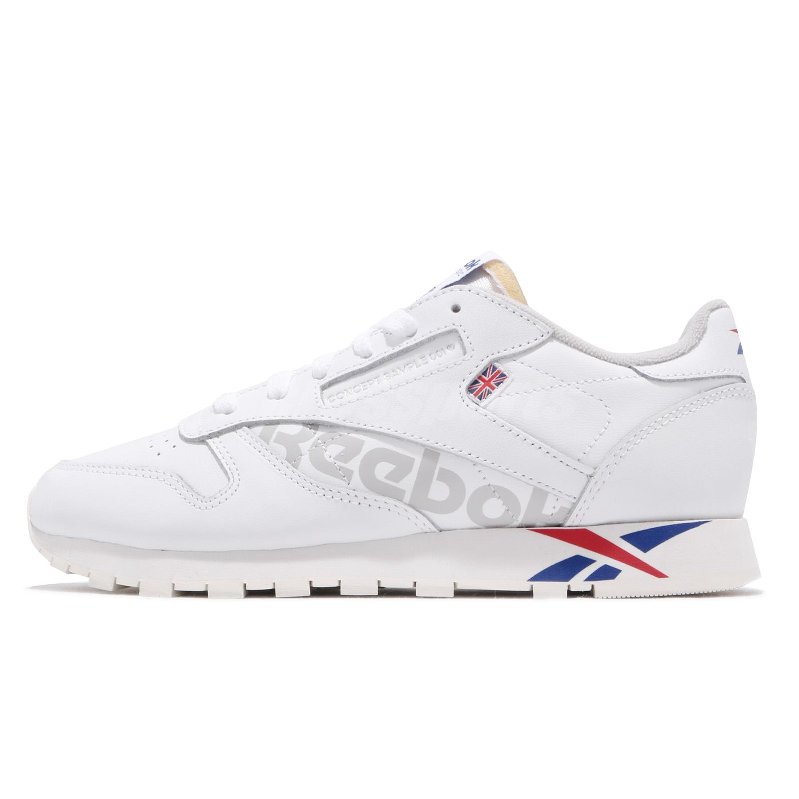 82a4c603f0912 Reebok Classic Leather Altered MU White Dark Royal Red Grey Men Shoes DV4629