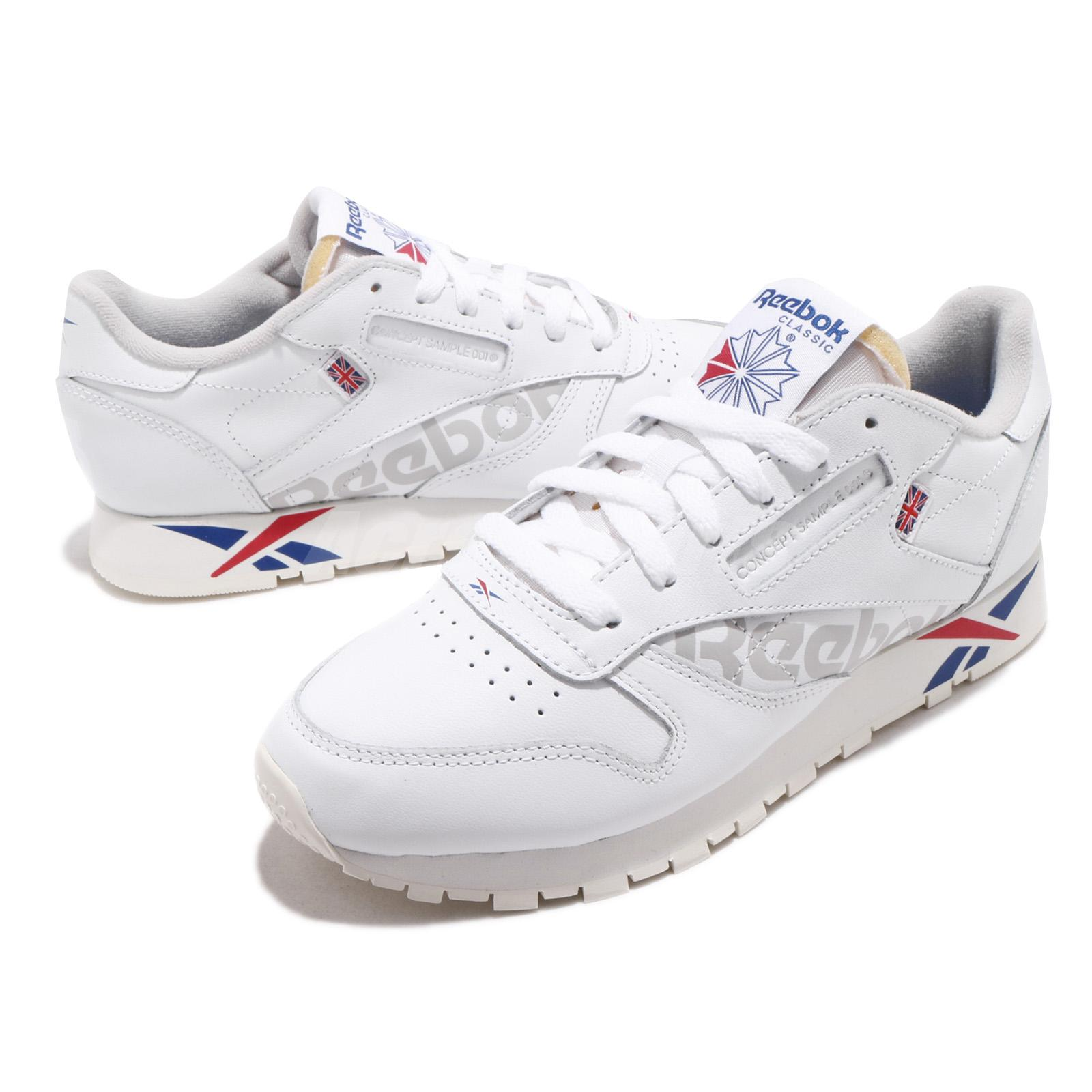 3928c68b682d9 Details about Reebok Classic Leather Altered MU White Dark Royal Red Grey Men  Shoes DV4629