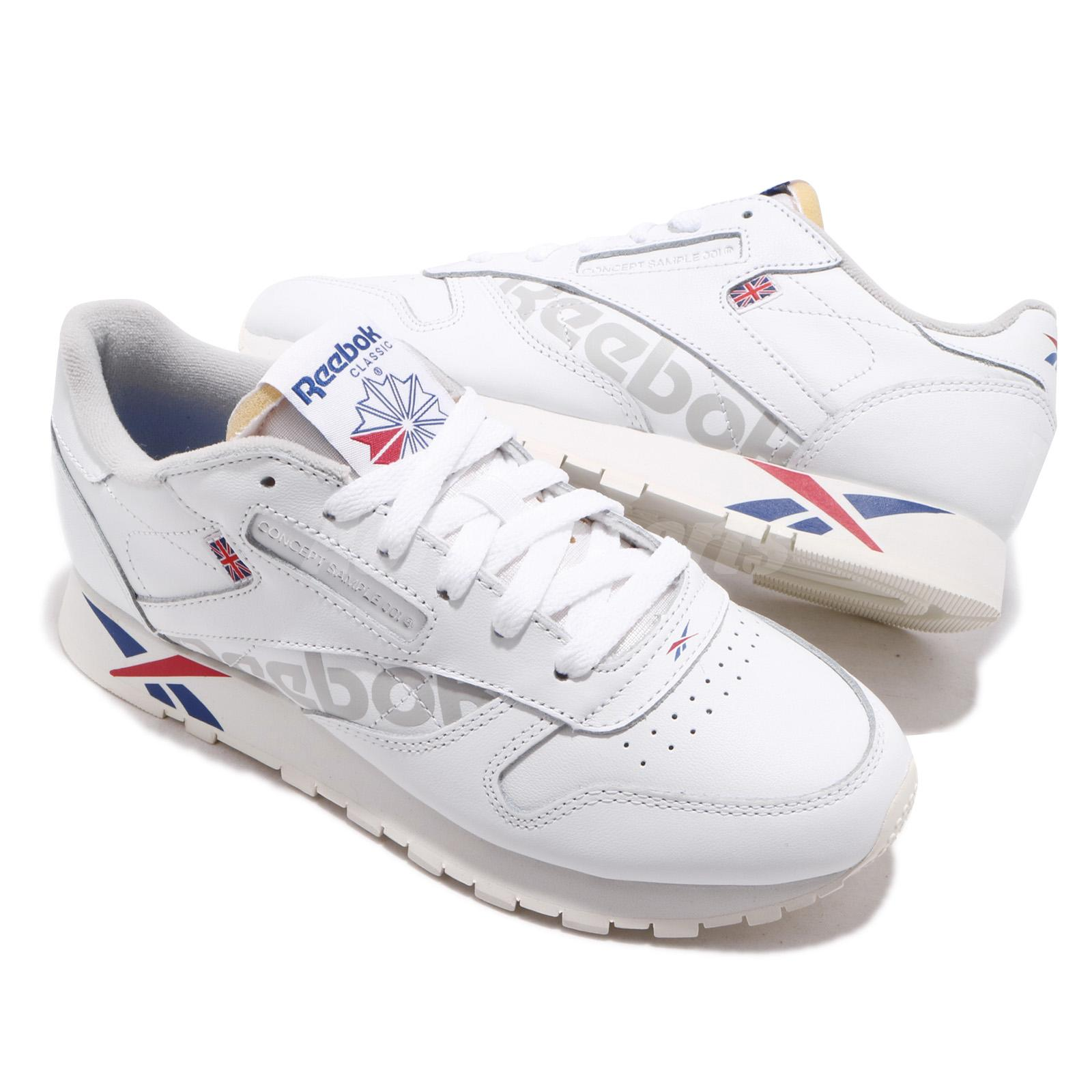 812d7f7a4c6 Reebok Classic Leather Altered MU White Dark Royal Red Grey Men ...