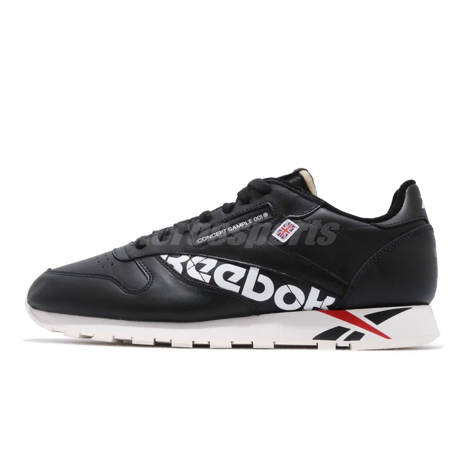 3872e316add37 Reebok Classic Leather Altered MU Black White Red Men Shoes Sneakers DV5016