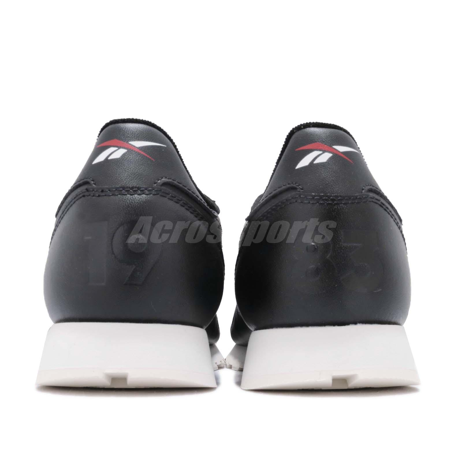 040cb3c9f4d67 Reebok Classic Leather Altered MU Black White Red Men Shoes Sneakers ...