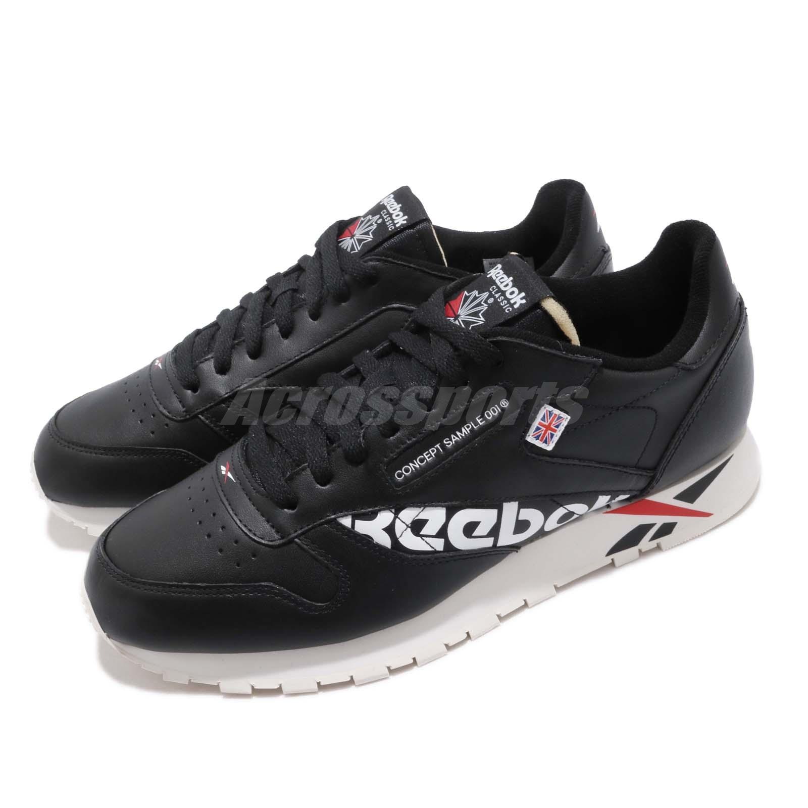 adeaa339ce8 Details about Reebok Classic Leather Altered MU Black White Red Men Shoes  Sneakers DV5016
