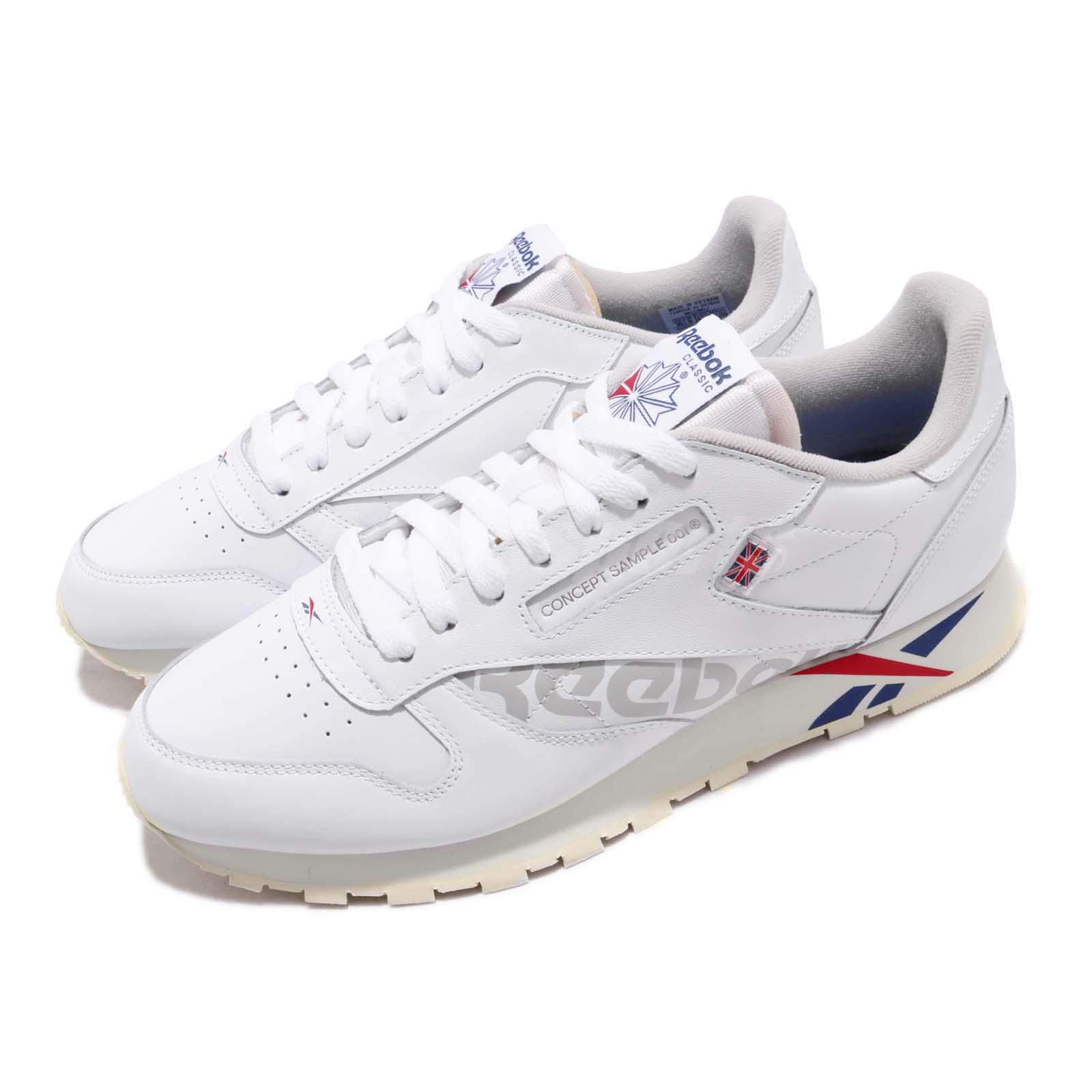 934d941cd4 Details about Reebok Classic Leather Altered White Red Dark Royal Grey  Women Shoes DV5027