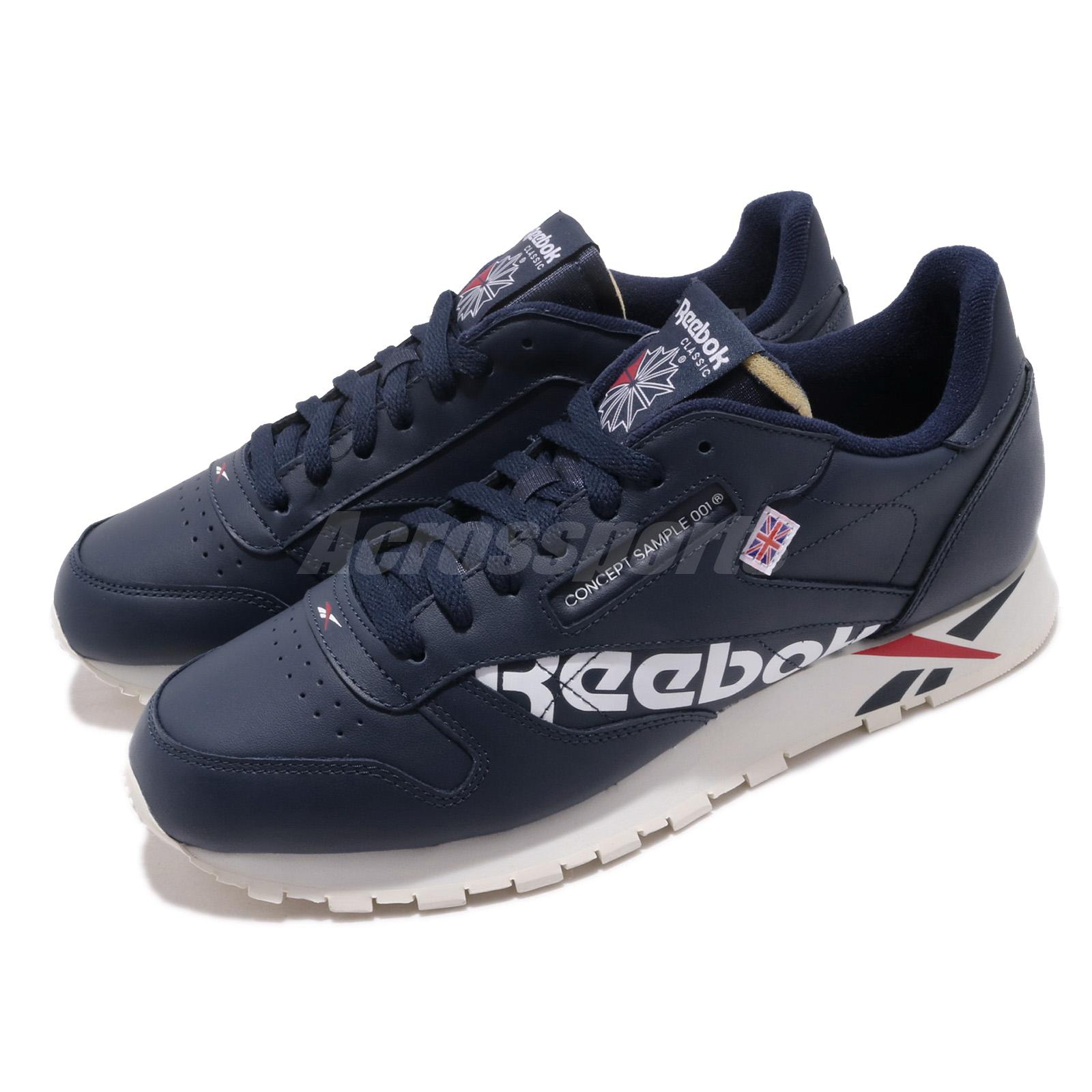 5e3acdee96a72 Details about Reebok Classic Leather Altered MU Navy White Red Chalk Men  Shoes Sneakers DV5050